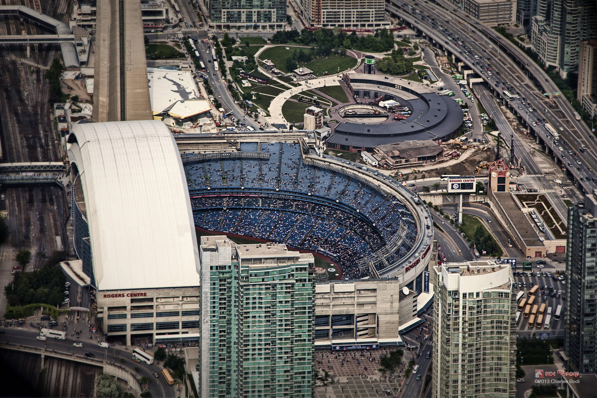 The Blue Jays are building a patio outside the Rogers Centre