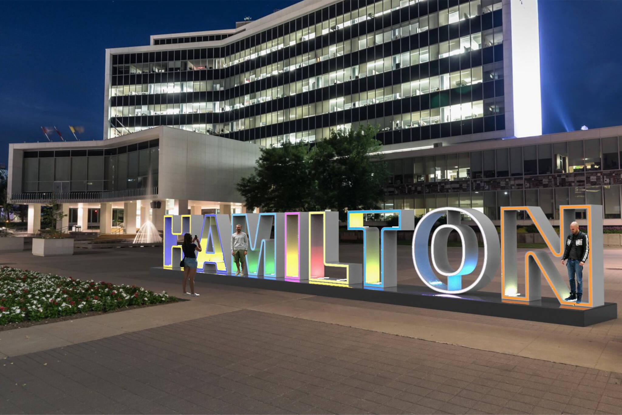 hamilton city sign