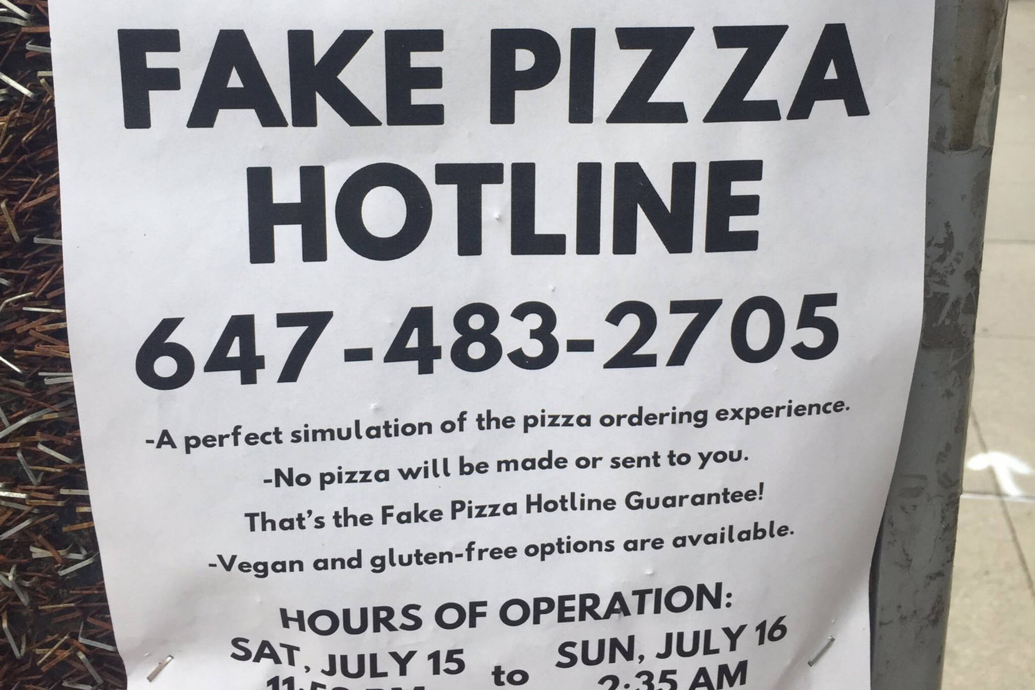 fake pizza toronto