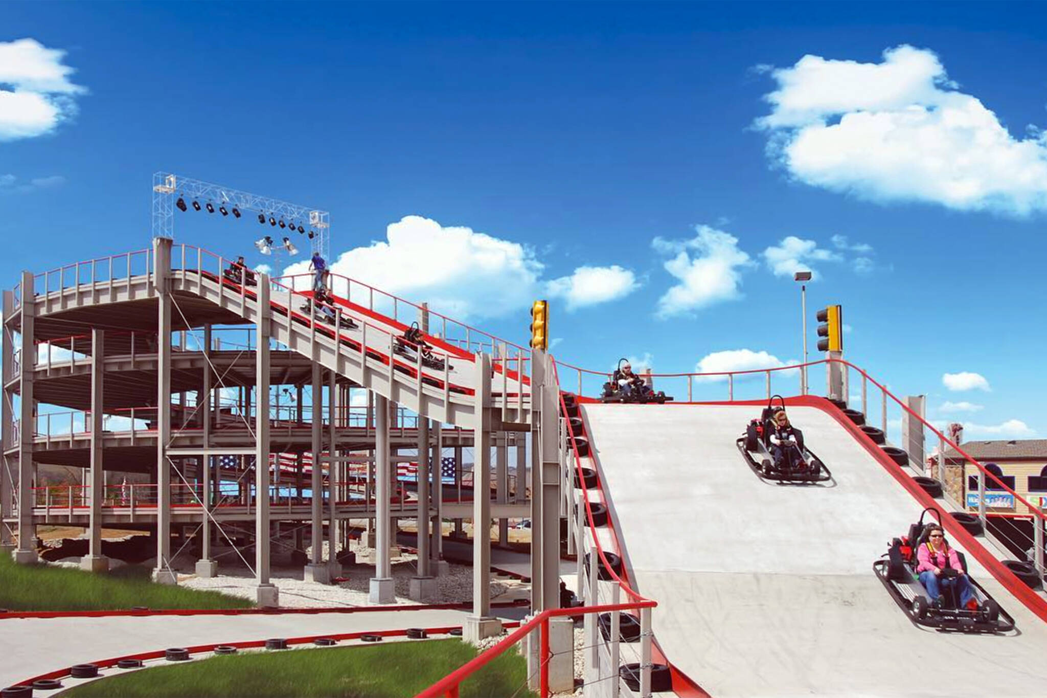 A four storey stacked go kart track is coming to niagara falls for House of tracks