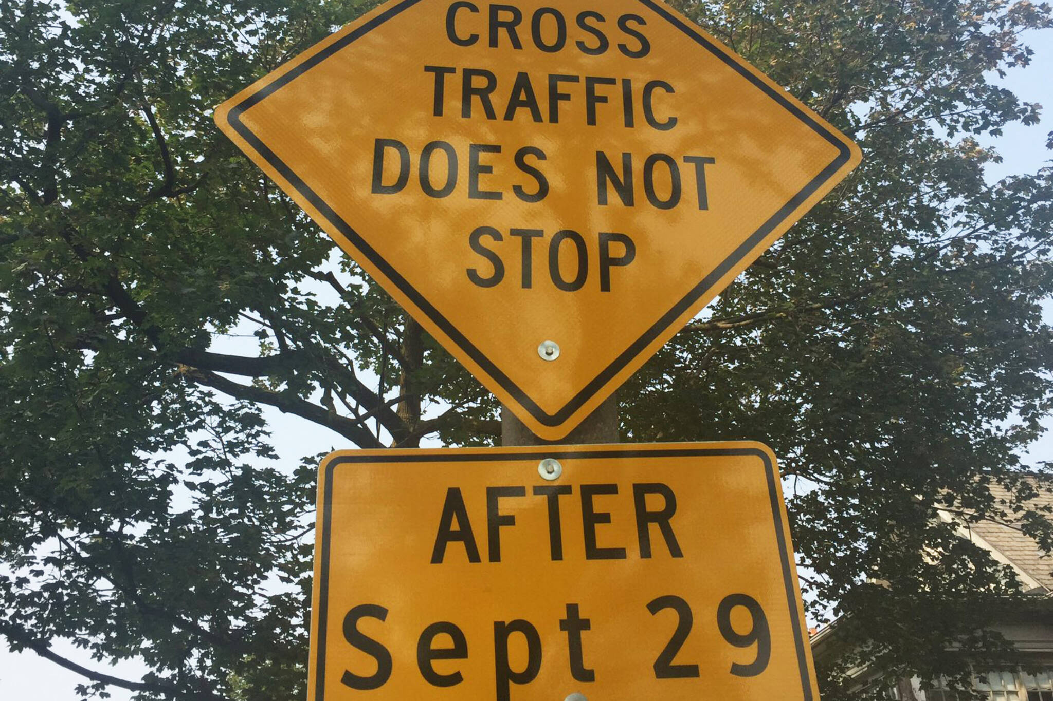 rosedale stop sign controversy