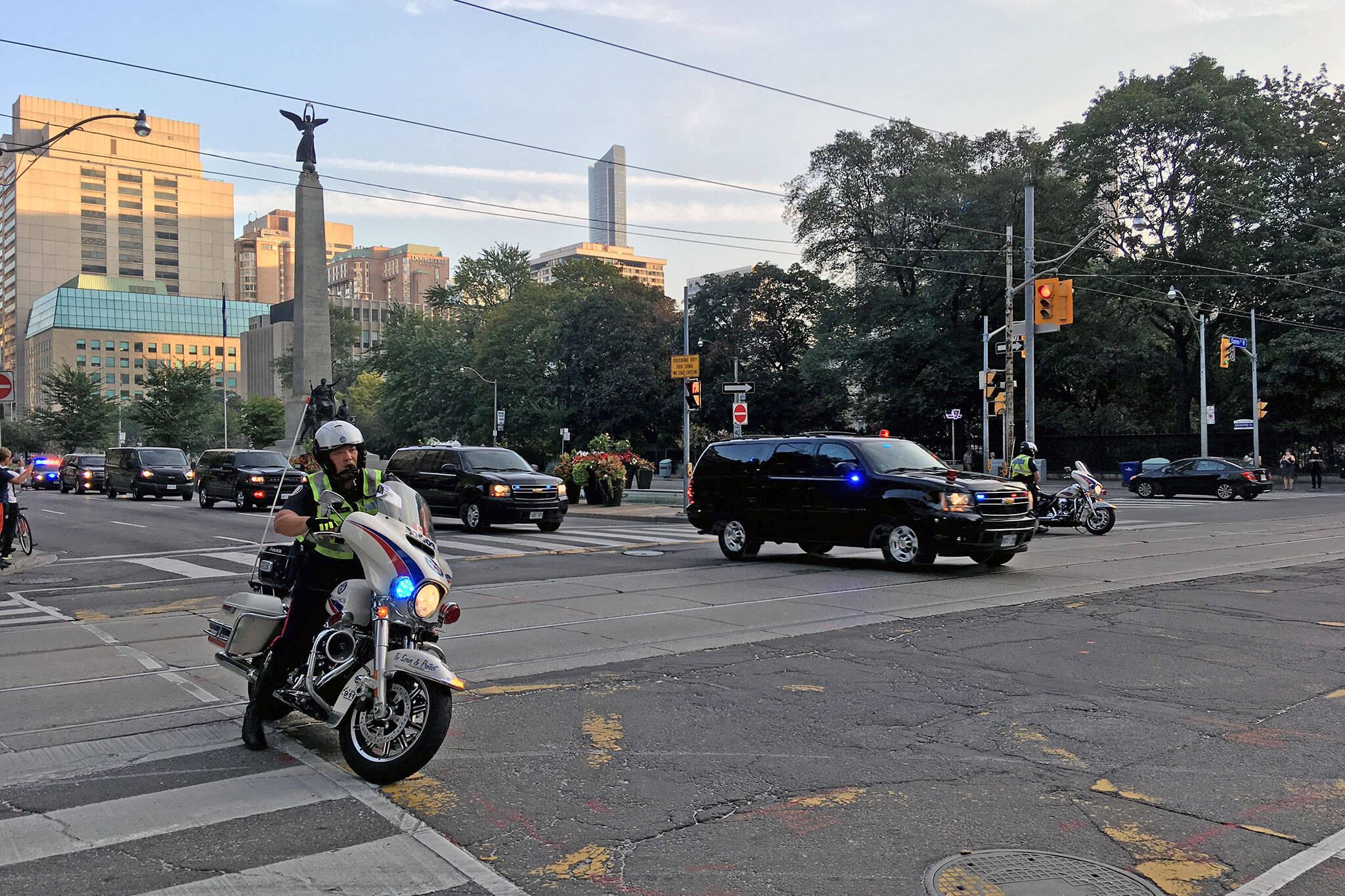 police motorcade toronto