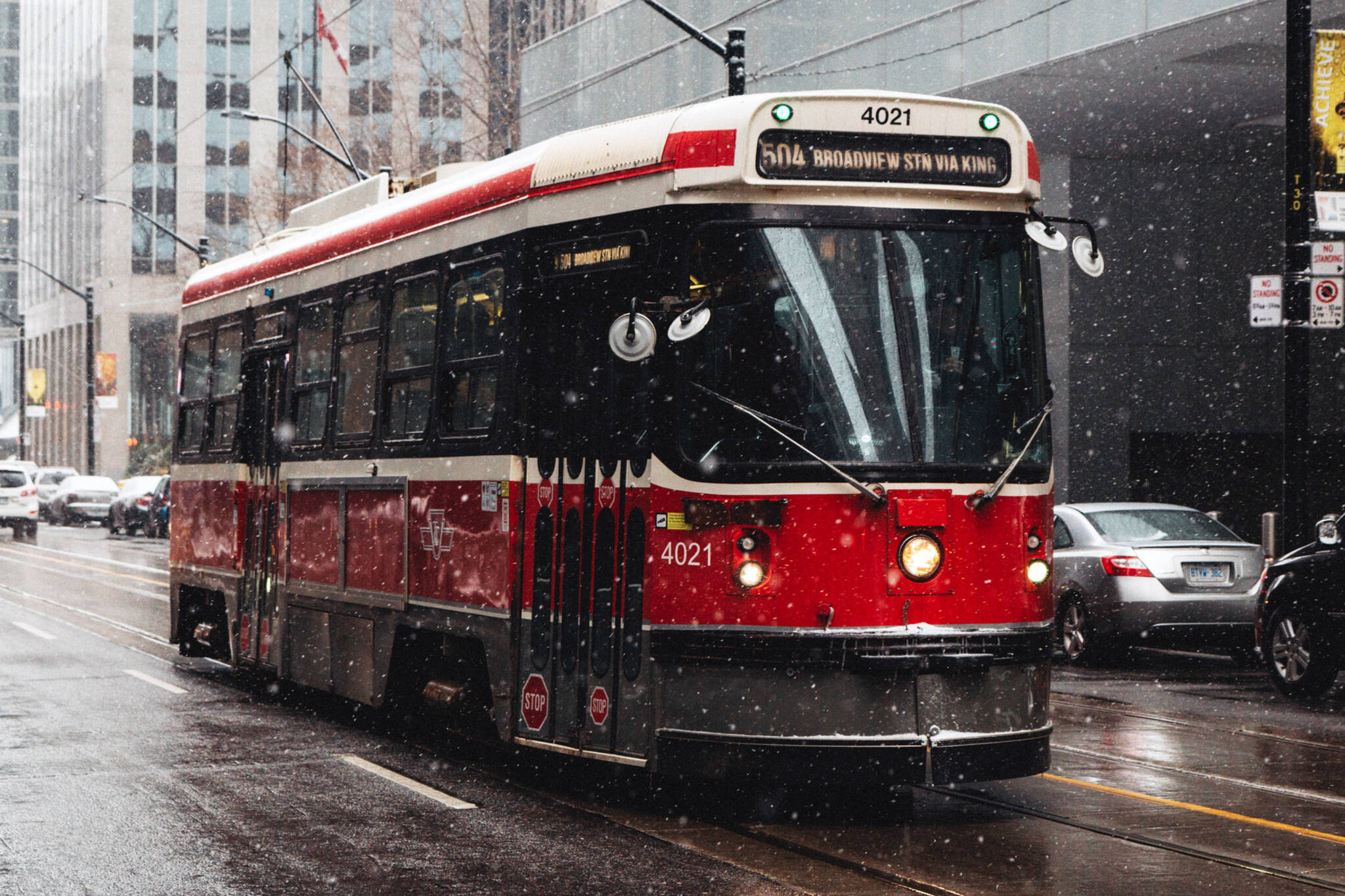TTC streetcars cold