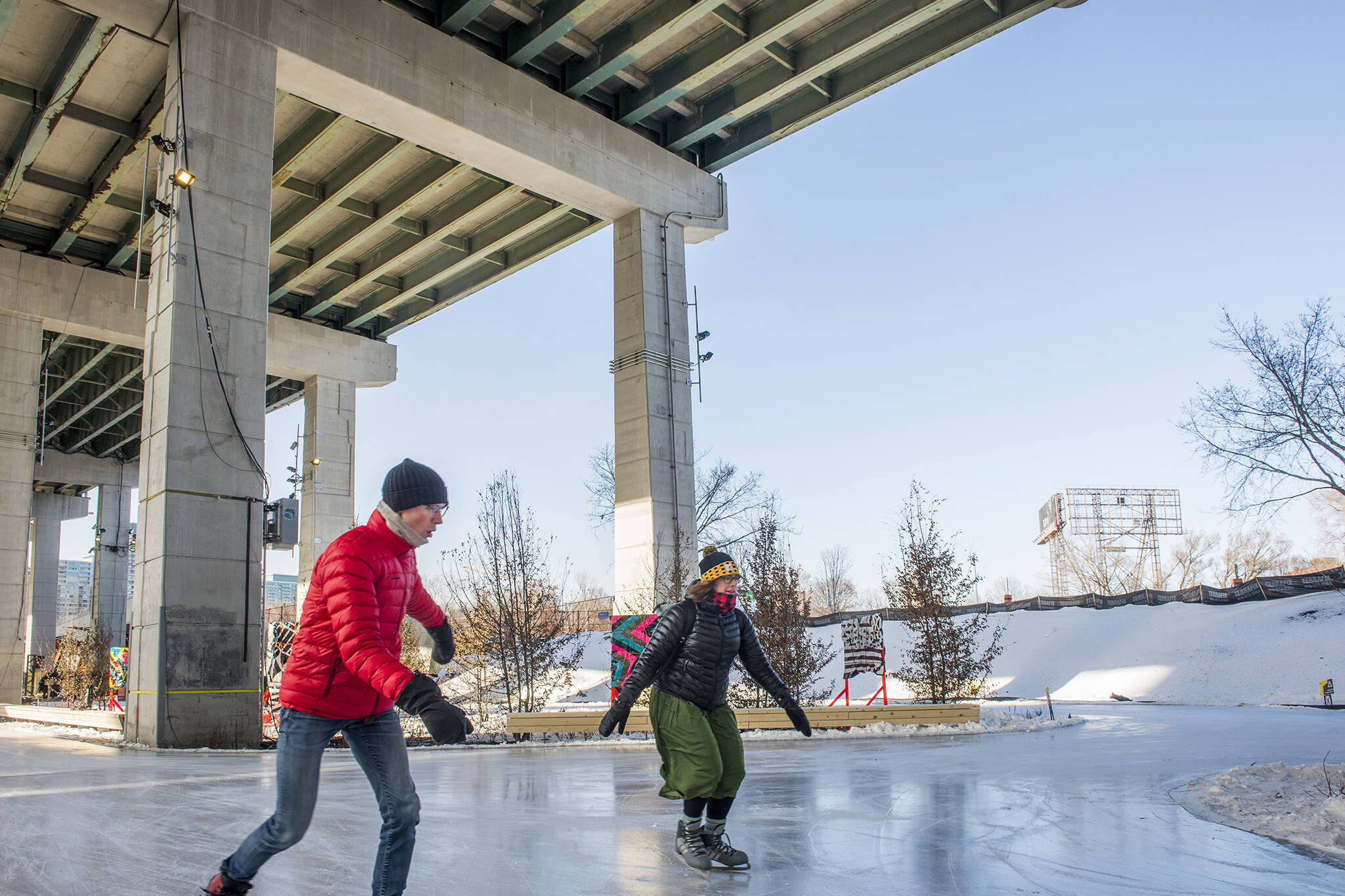Bentway skate trail melted