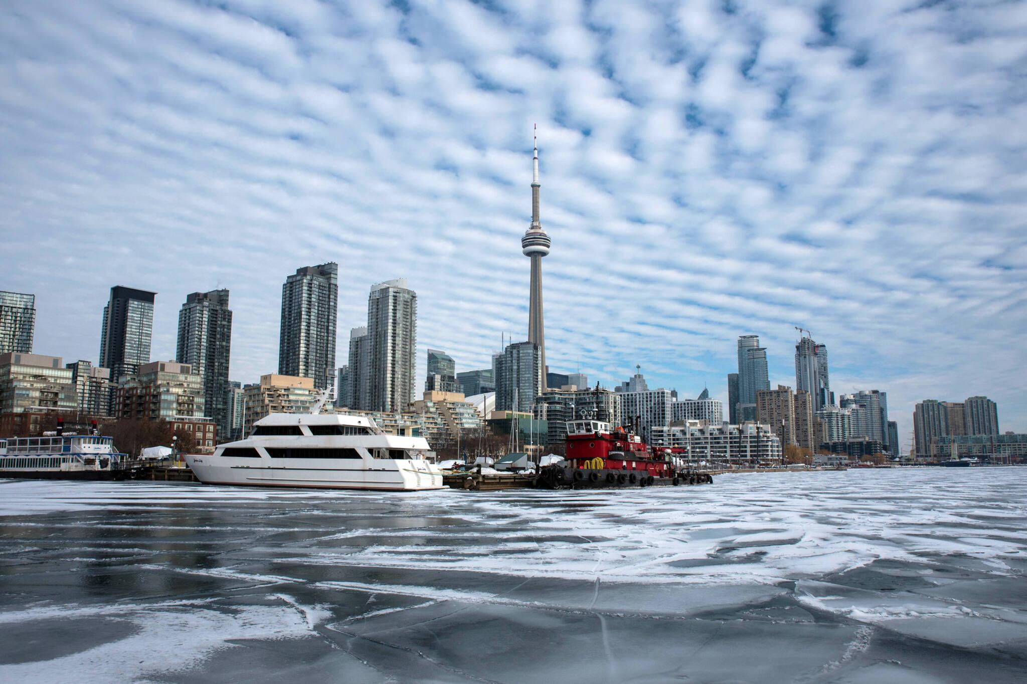 Toronto winter ice