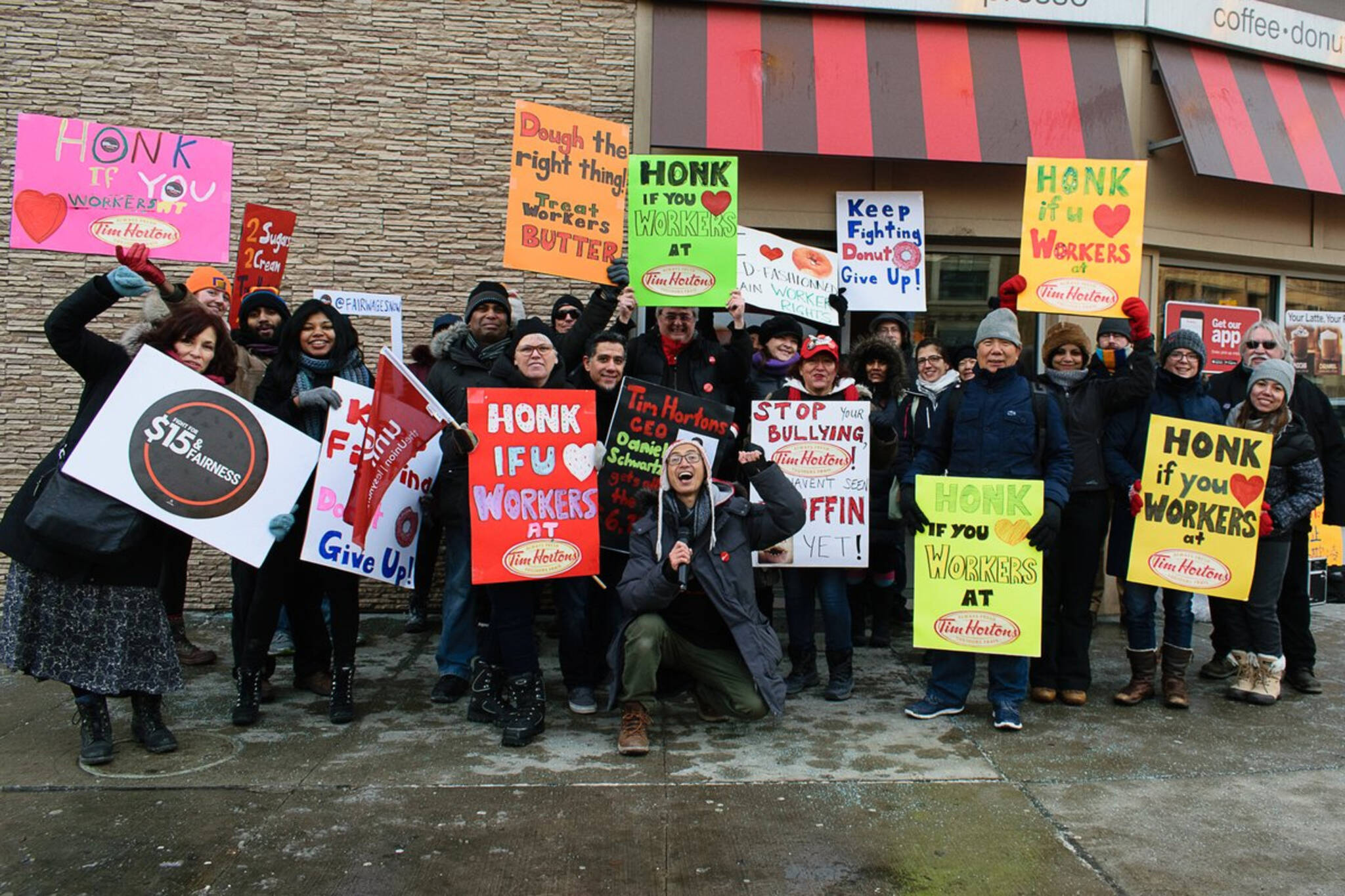Tim Hortons protests