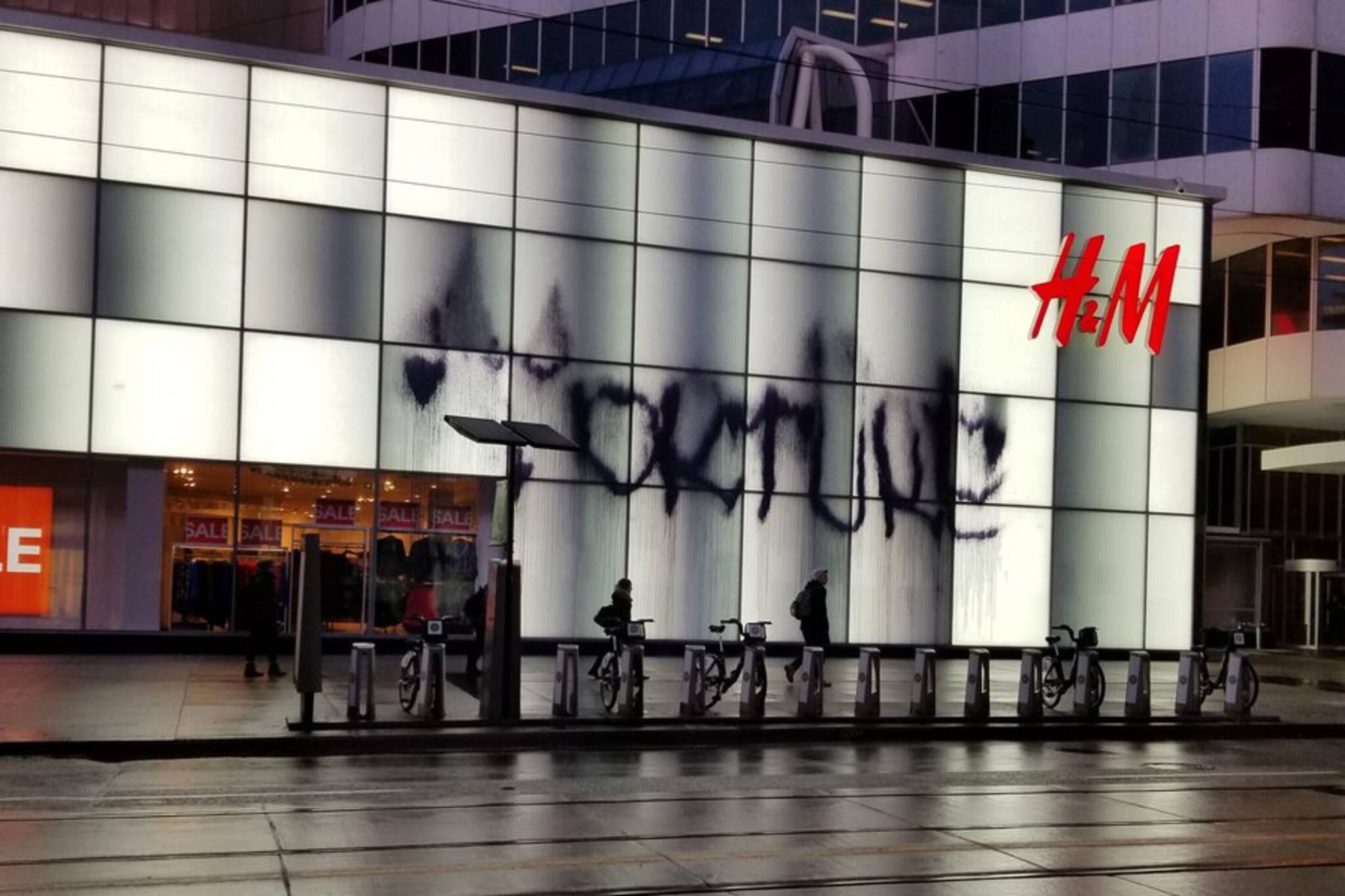 handm vandalized toronto