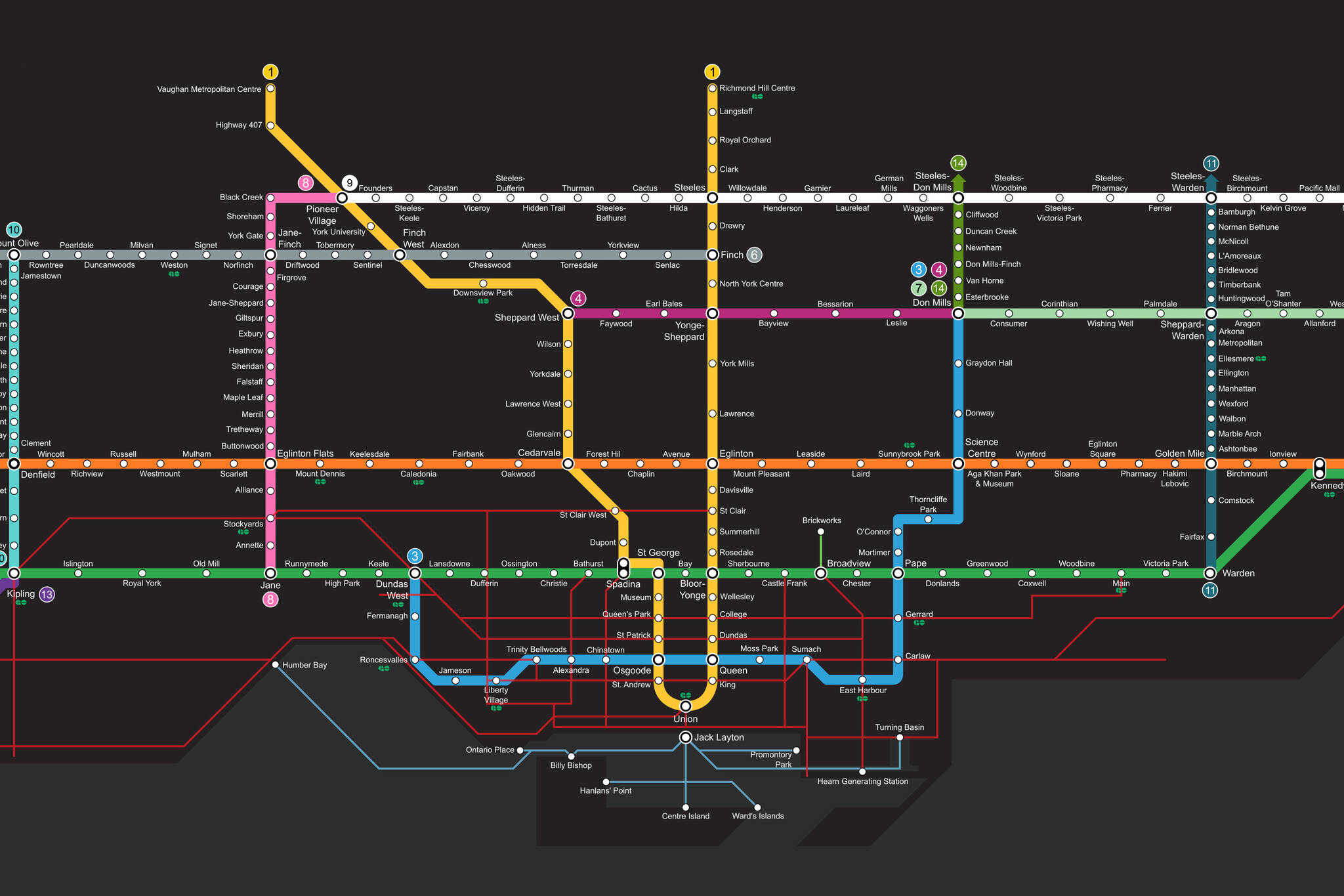 Toronto Subway Map Print.This Is The Ttc Fantasy Map To End All Ttc Fantasy Maps