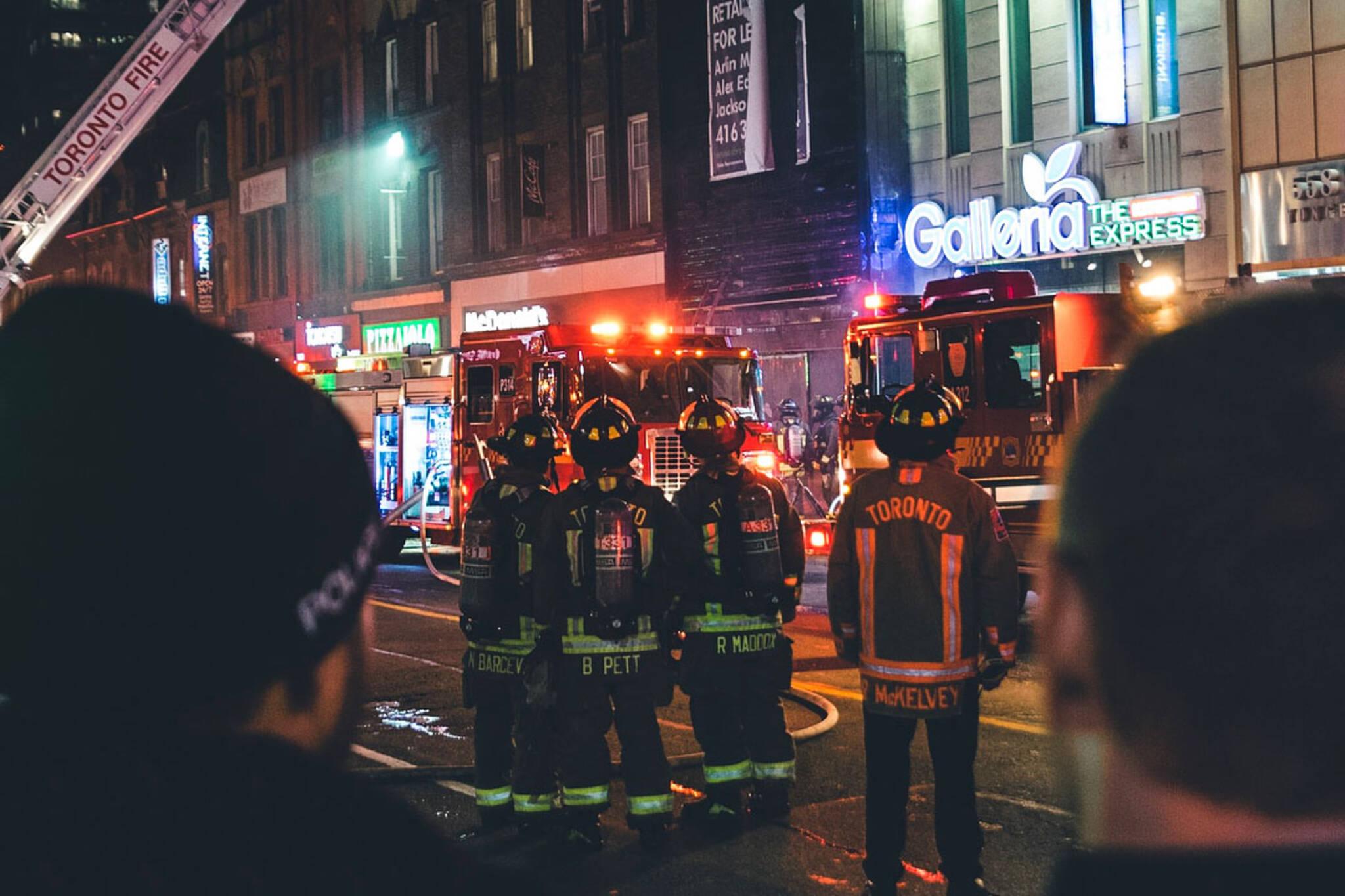 Fire Yonge Wellesley