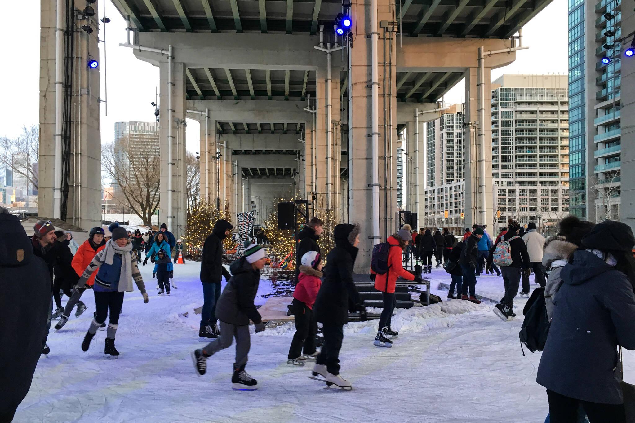 Bentway skating trail