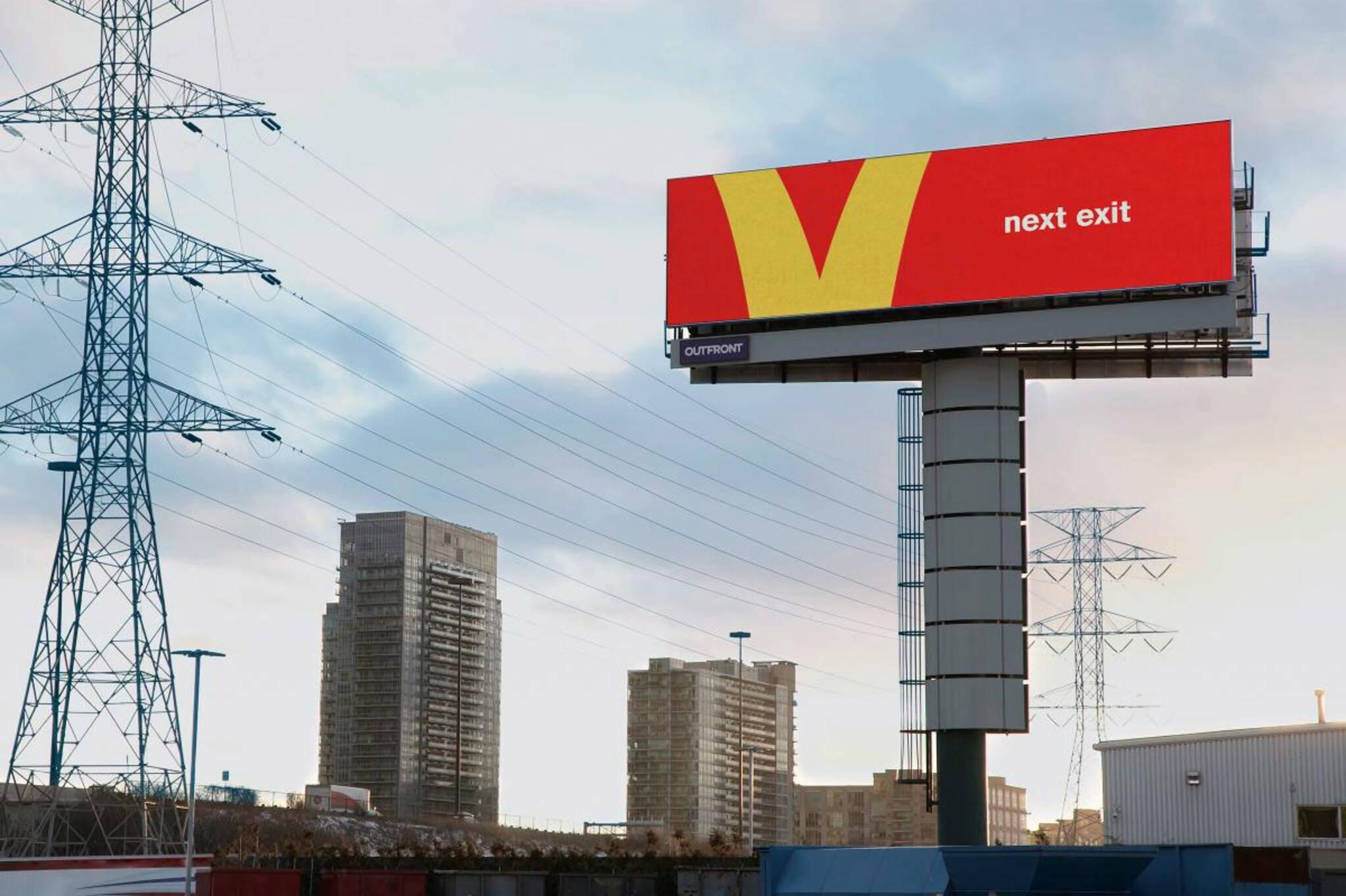 McDonalds billboards Toronto