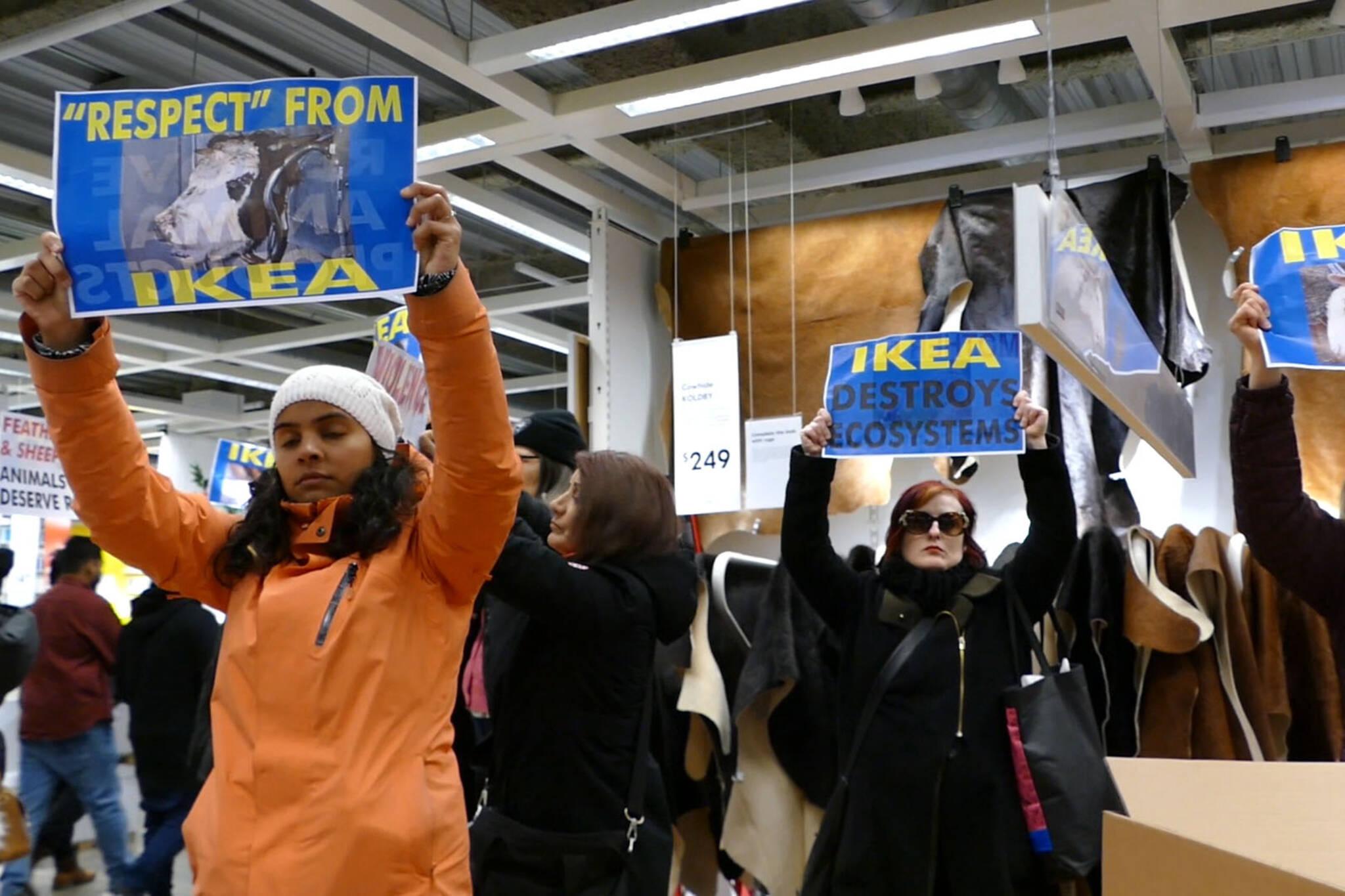 Ikea fur protest