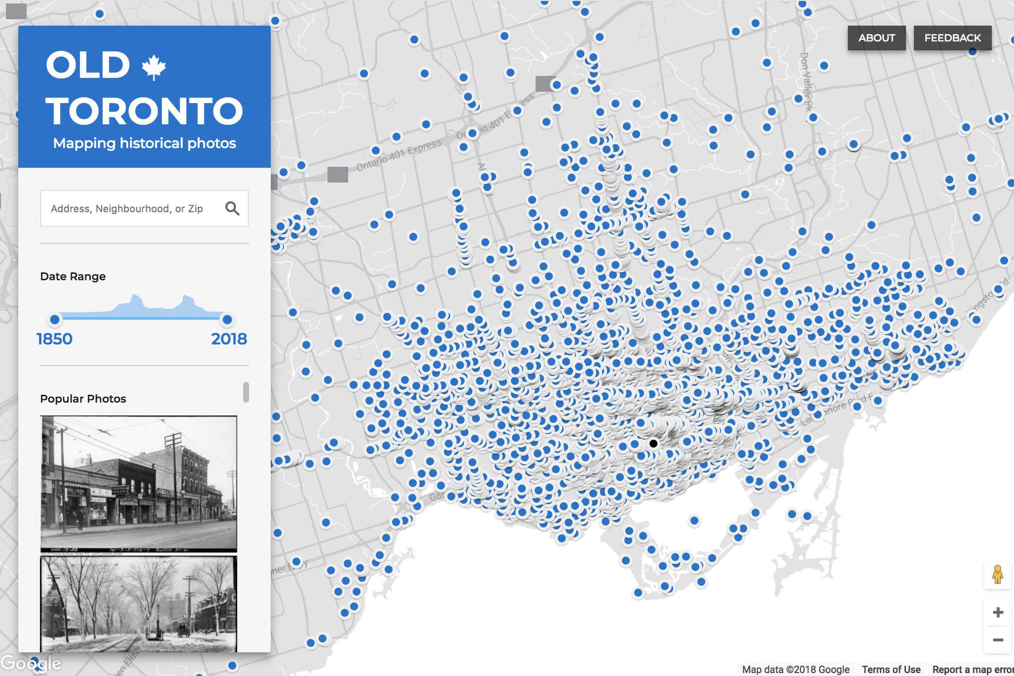 Old Toronto map