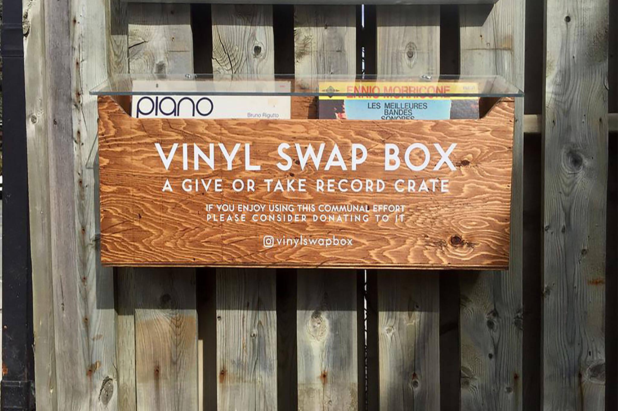 vinyl swap box