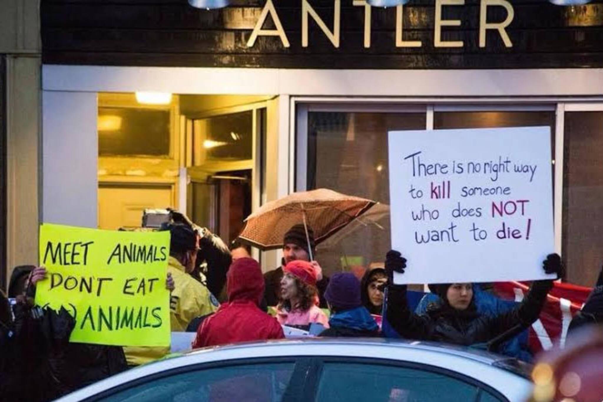 vegan protest Toronto