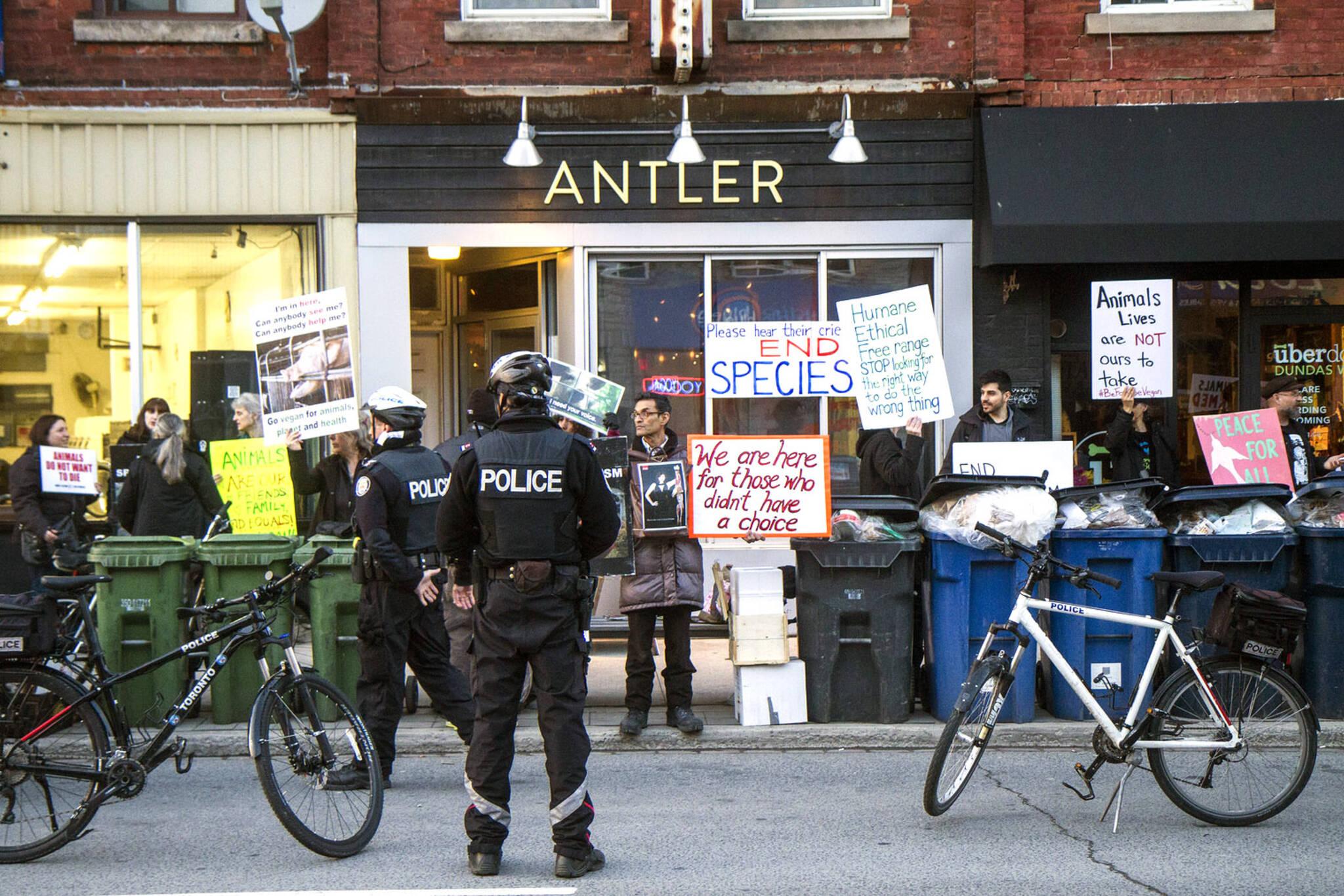 vegan protests toronto