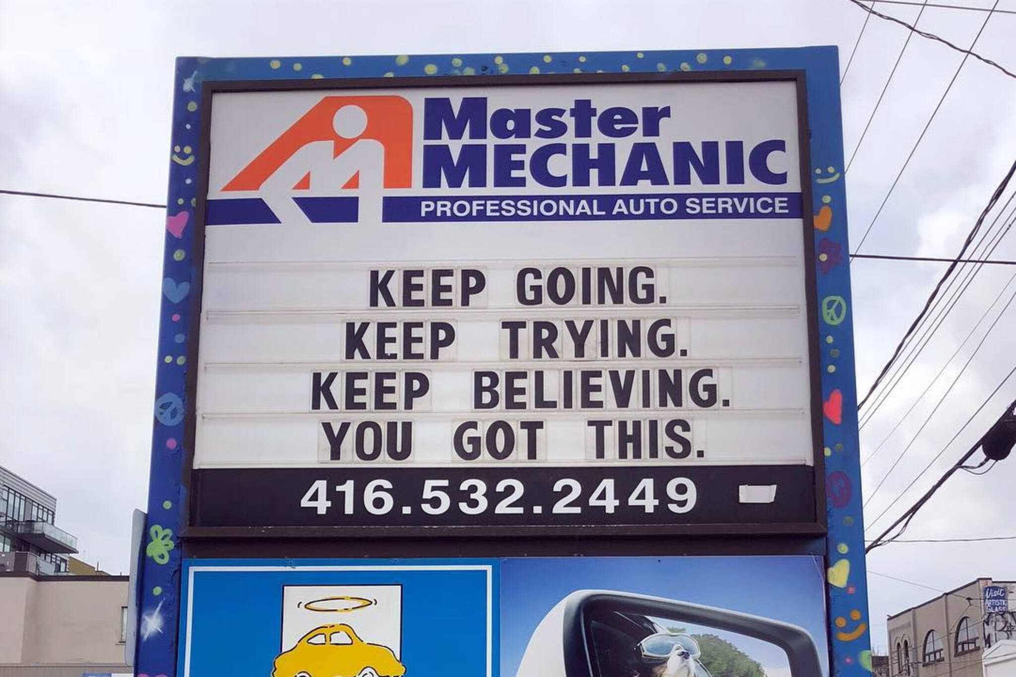 Master Mechanic sign