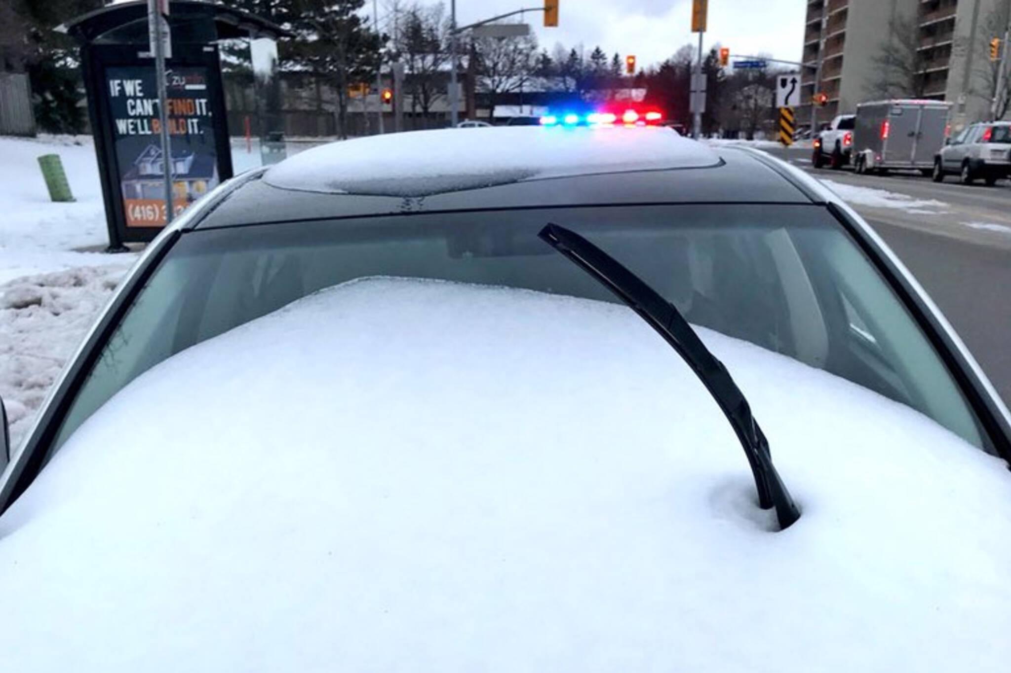 Snow windshield ticket