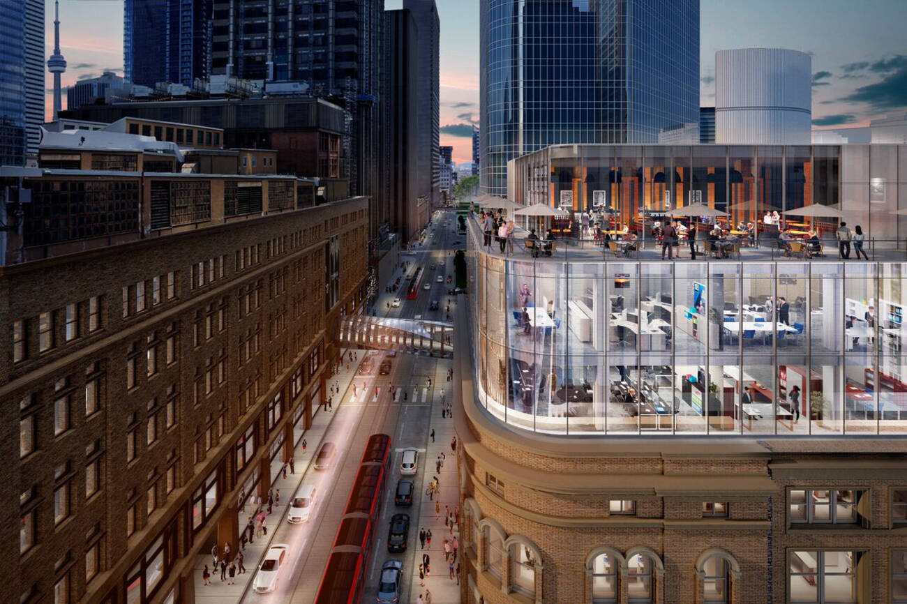 A gorgeous new rooftop patio is coming soon to one of downtown torontos busiest intersections along with a first class restaurant and three new stories of