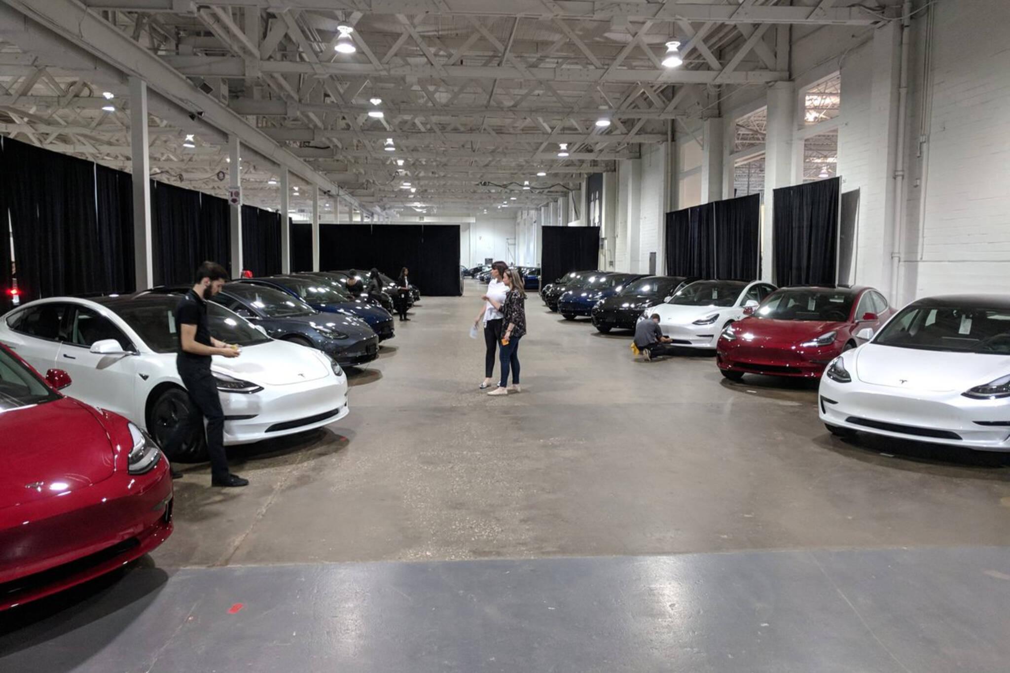 Tesla Toronto delivery