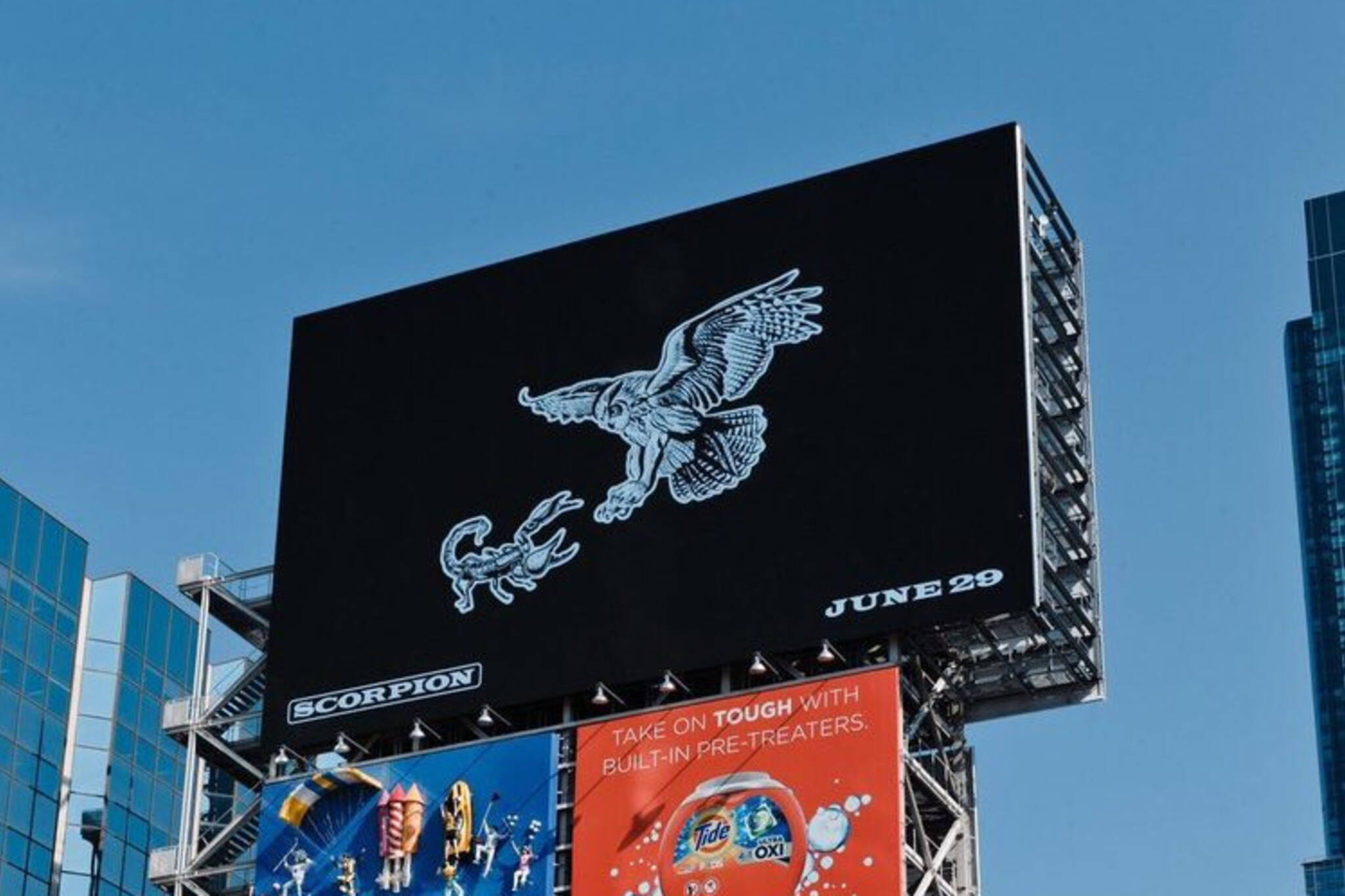 drake scorpion billboards