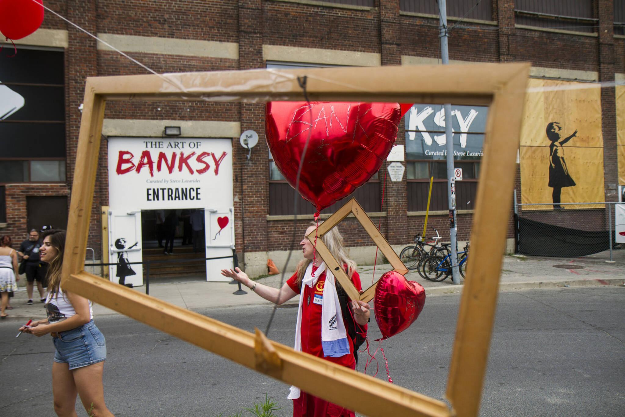 banksy exhibit toronto parody