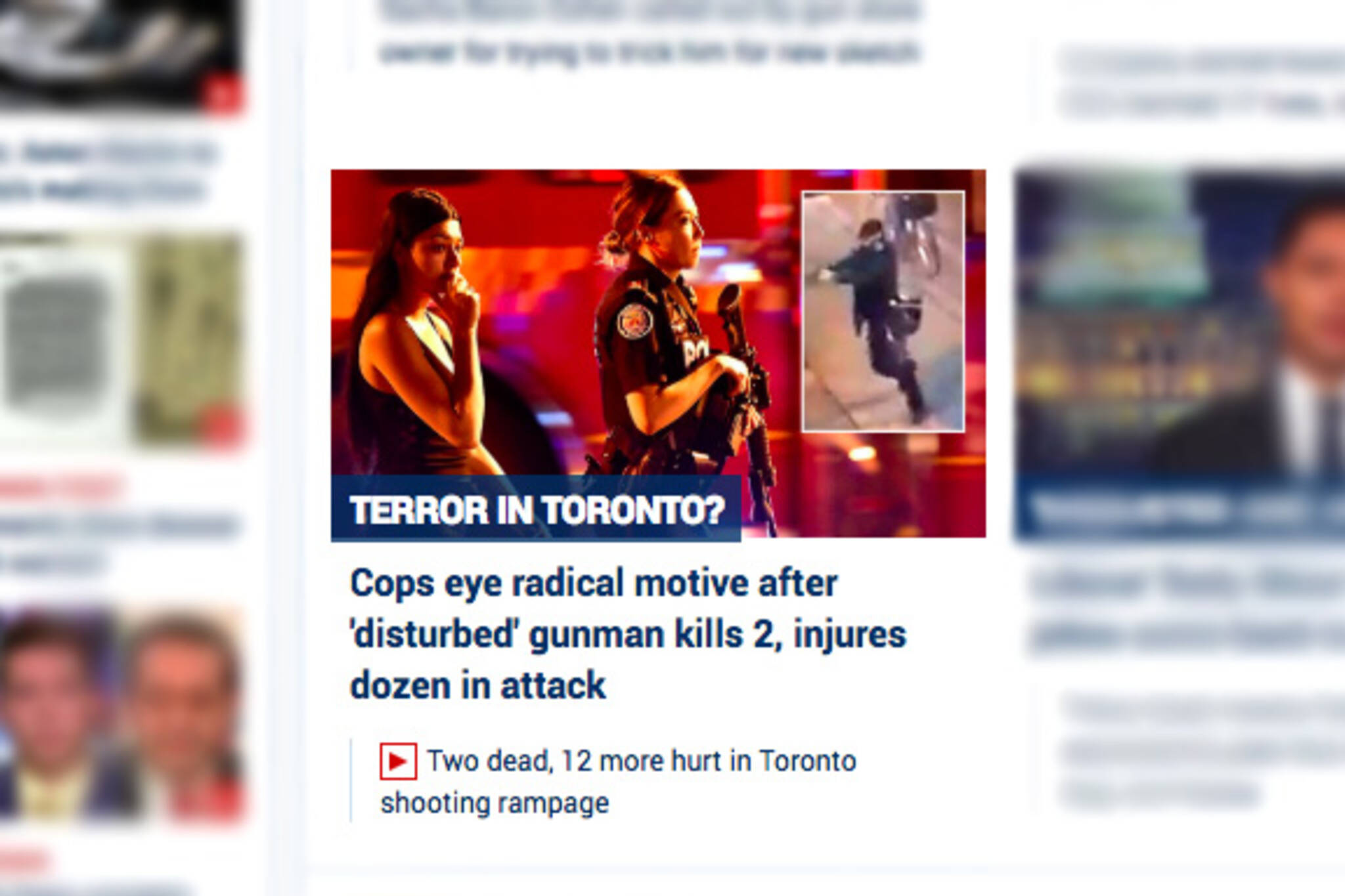 Fox Toronto shooting