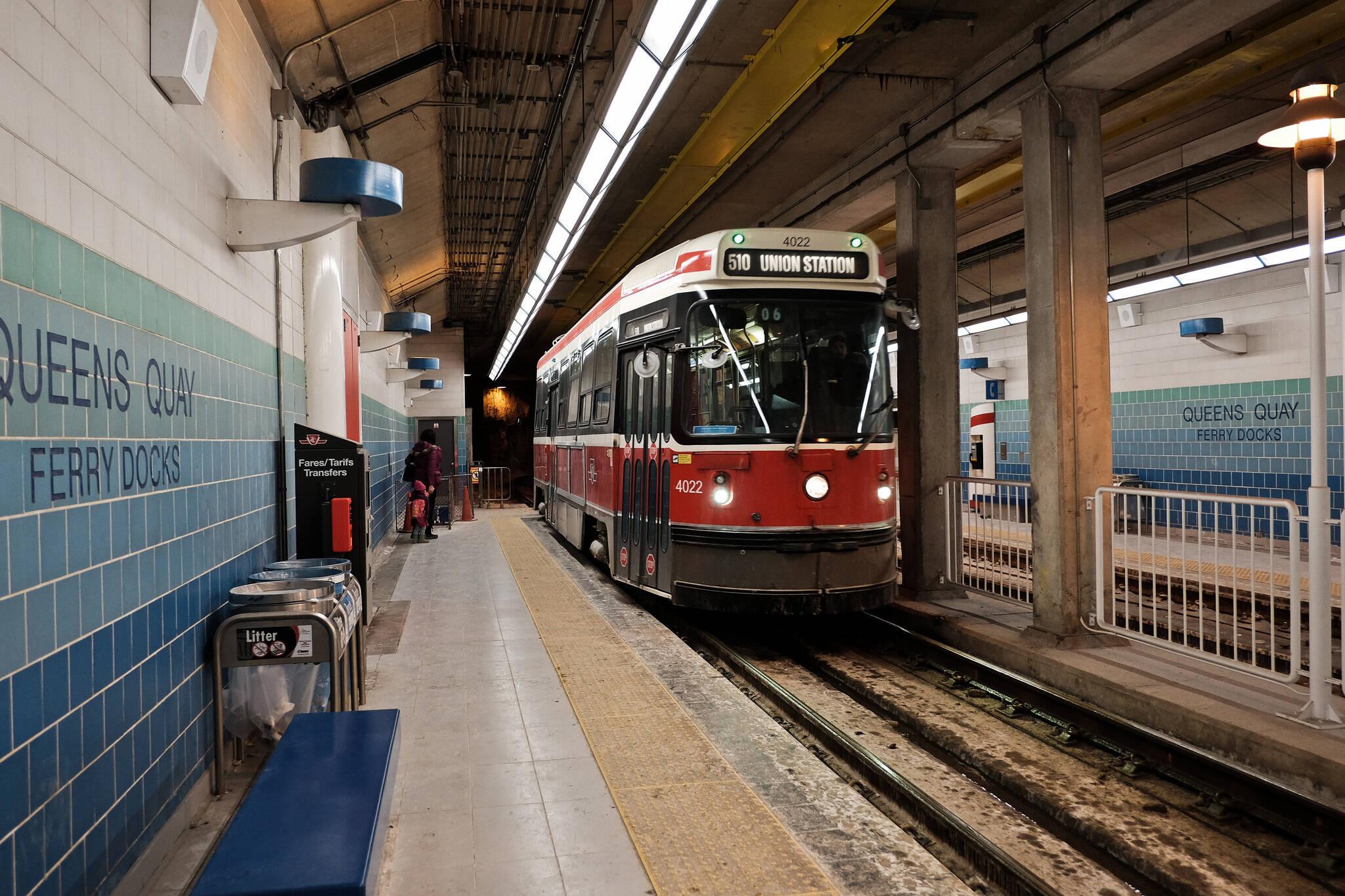 ttc streetcar tunnel