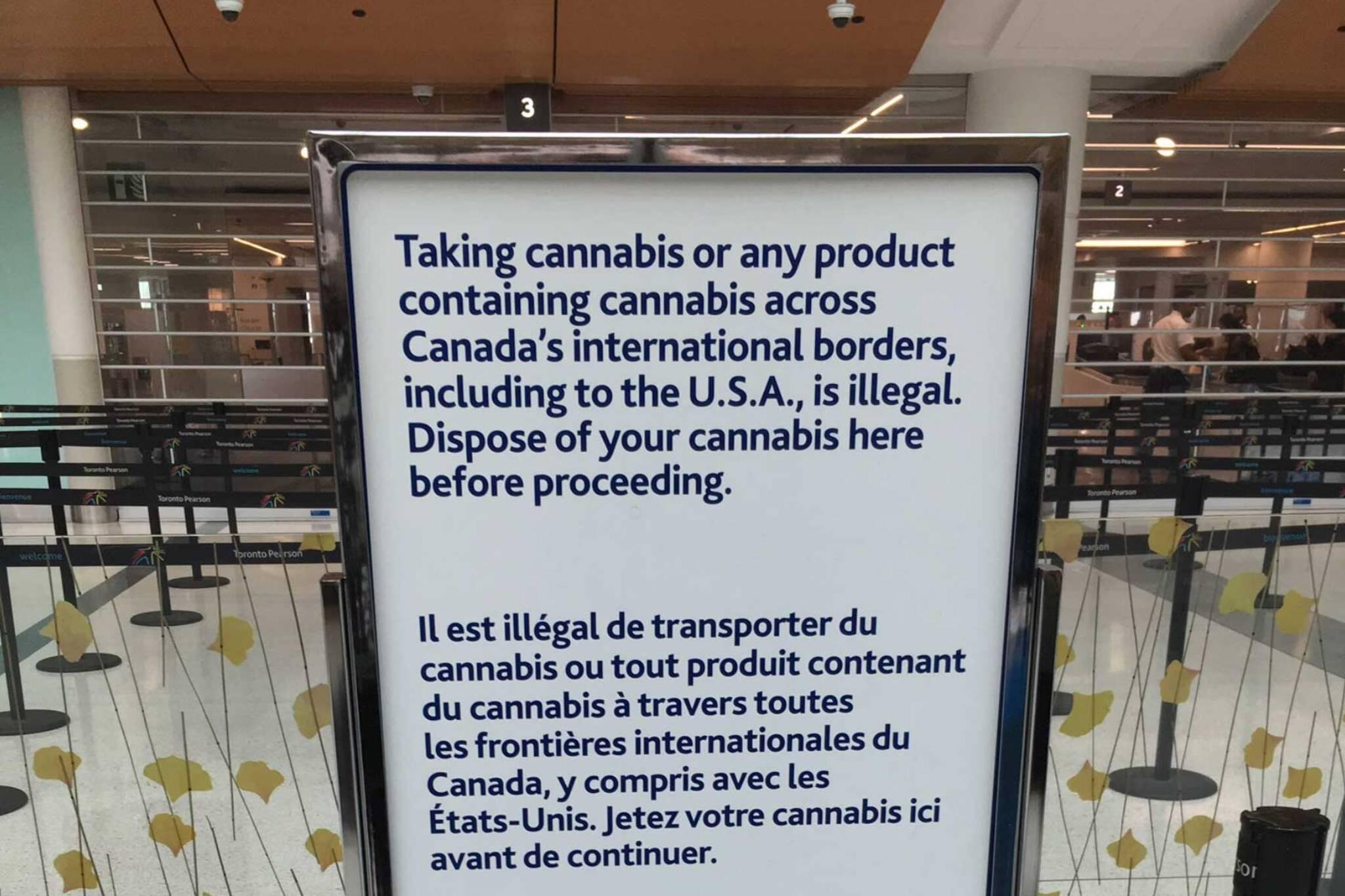 toronto airport cannabis