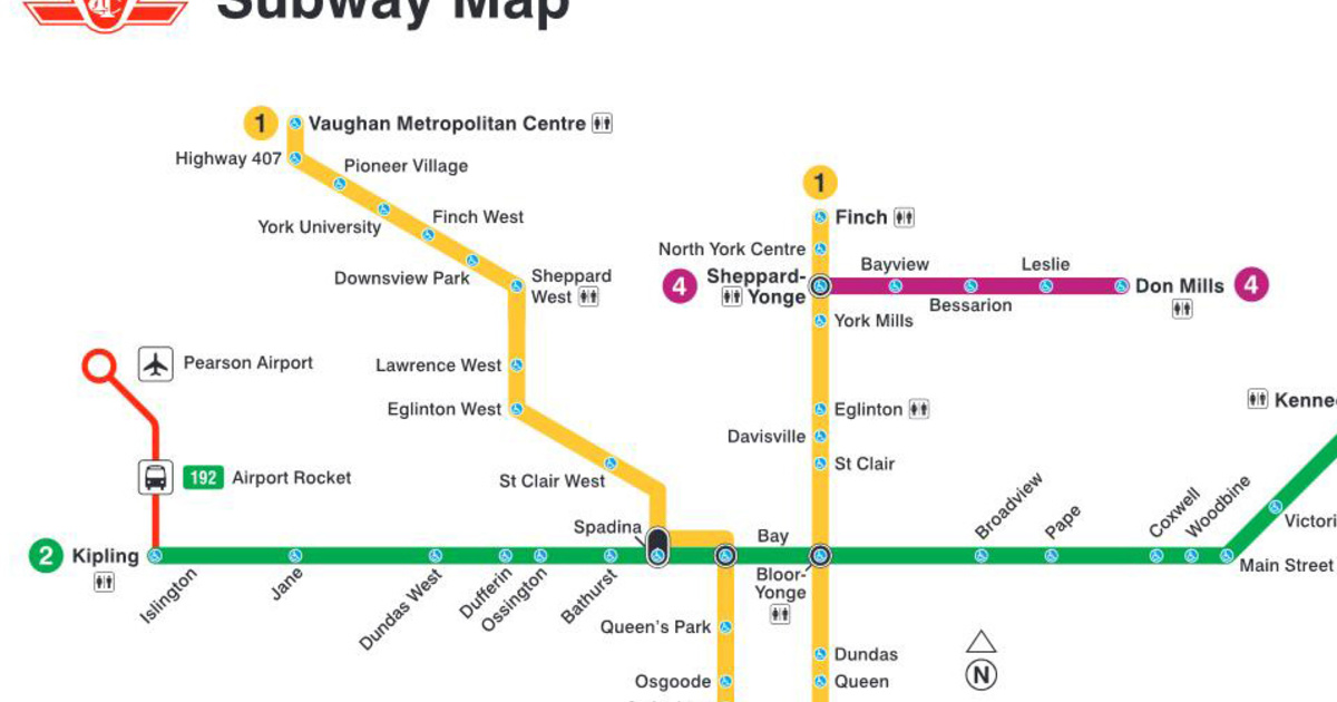 Toronto Subway Stations Map.Events In Toronto Someone Created A Ttc Subway Map With Only Accessible Stations