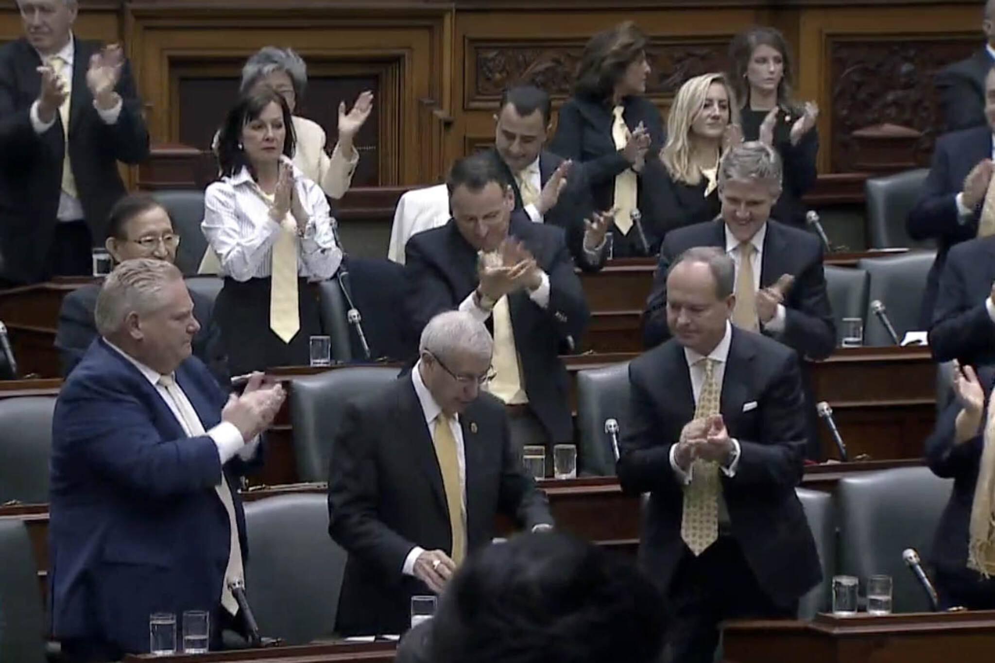 doug ford standing ovation