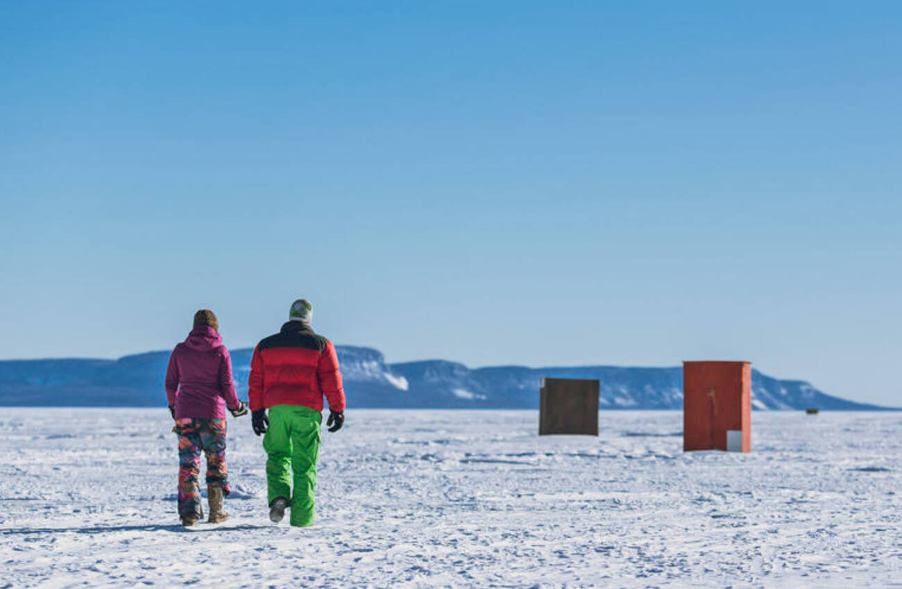 You can go ice fishing in style just one hour from toronto for Go ice fish