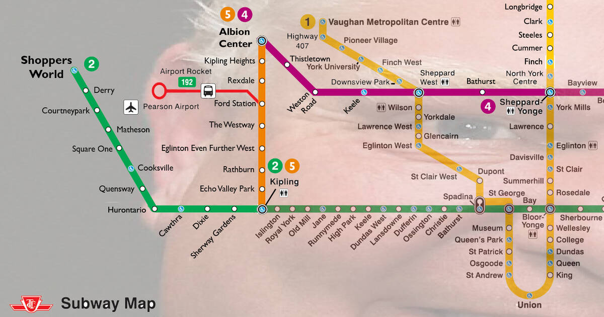 Fantasy Toronto Subway Map.Events In Toronto Someone Just Created A Ttc Subway Fantasy Map To