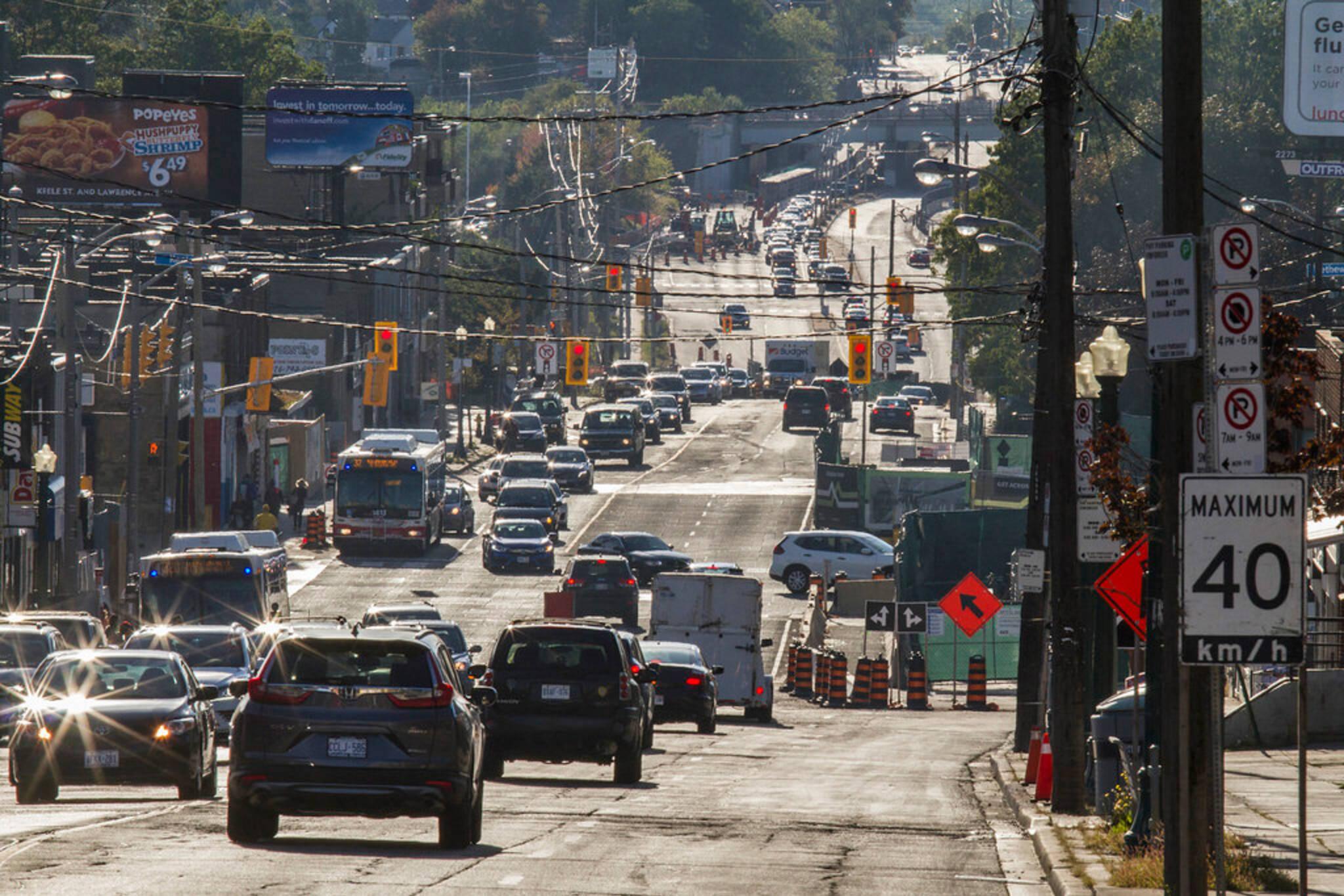 Eglinton road closures