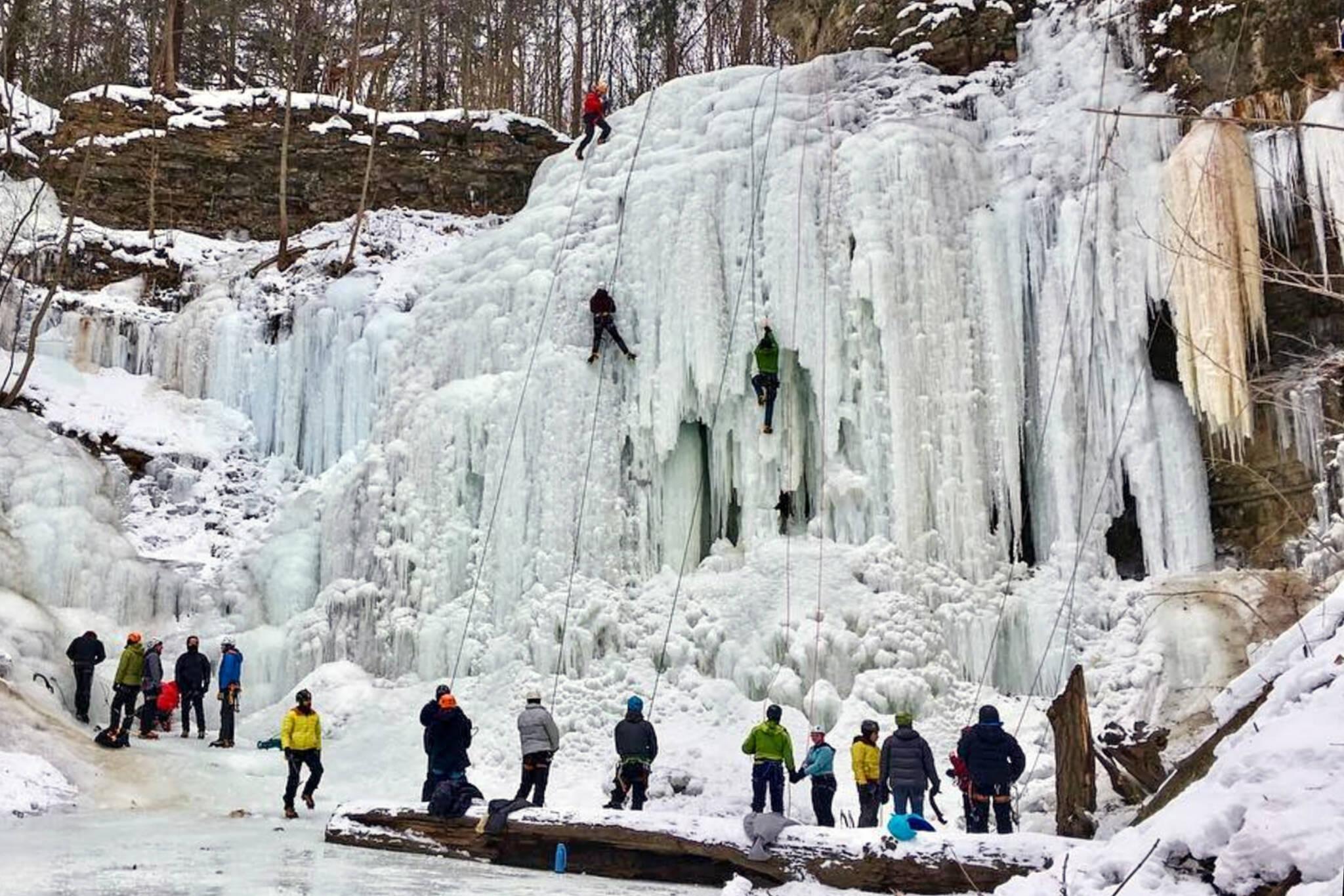 ice climbing toronto