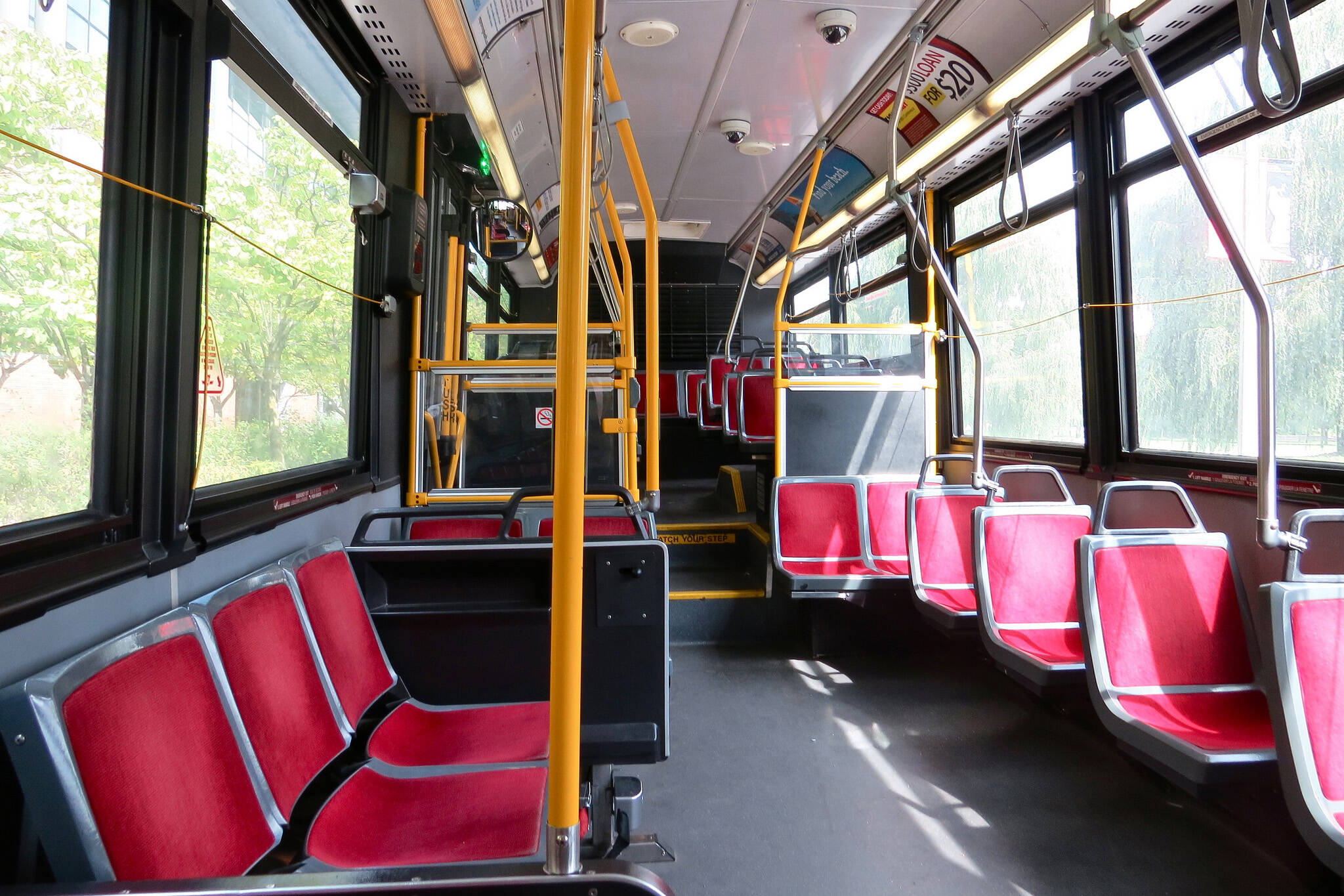 TTC high bus seat