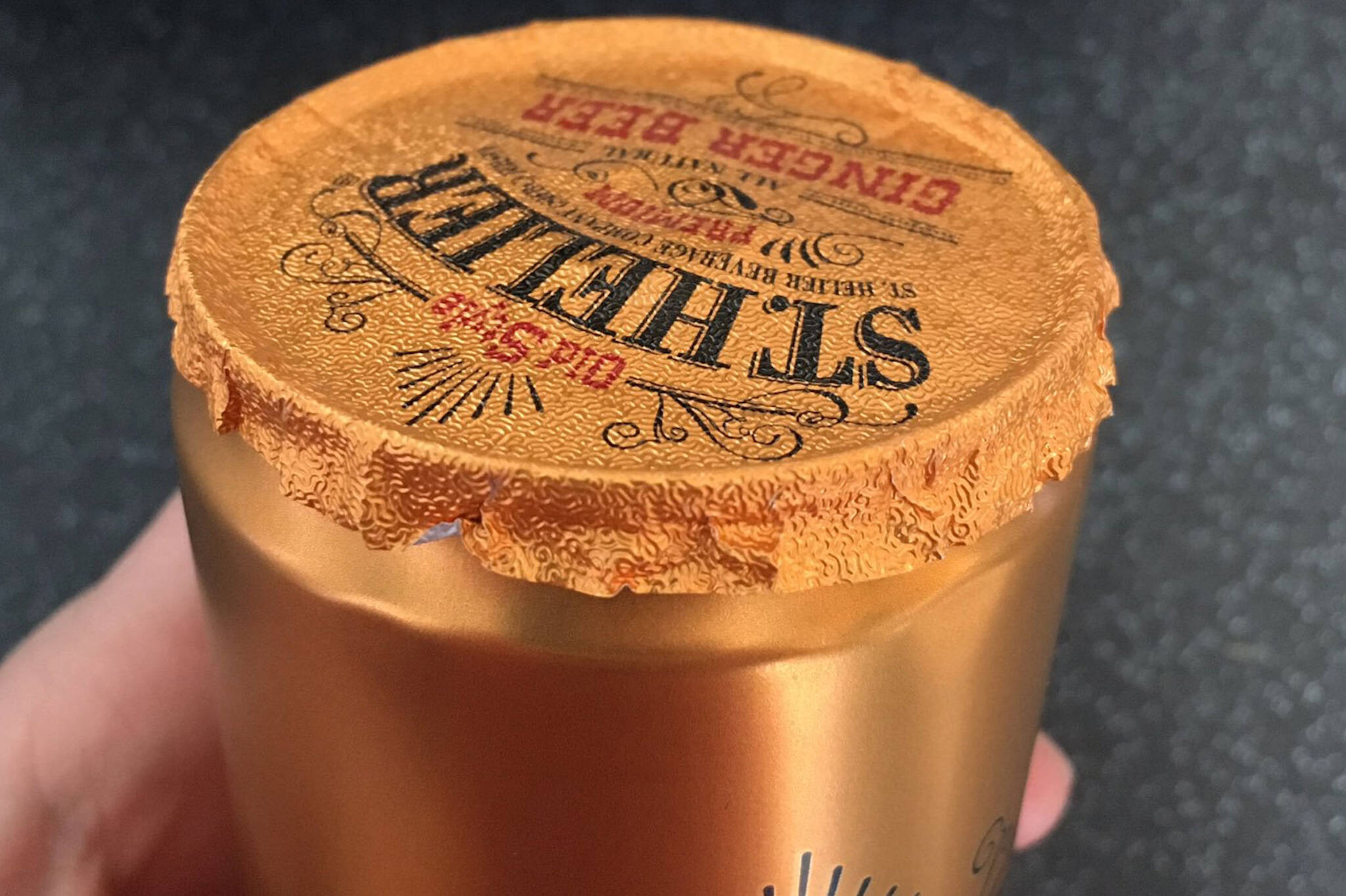 foil top beer can