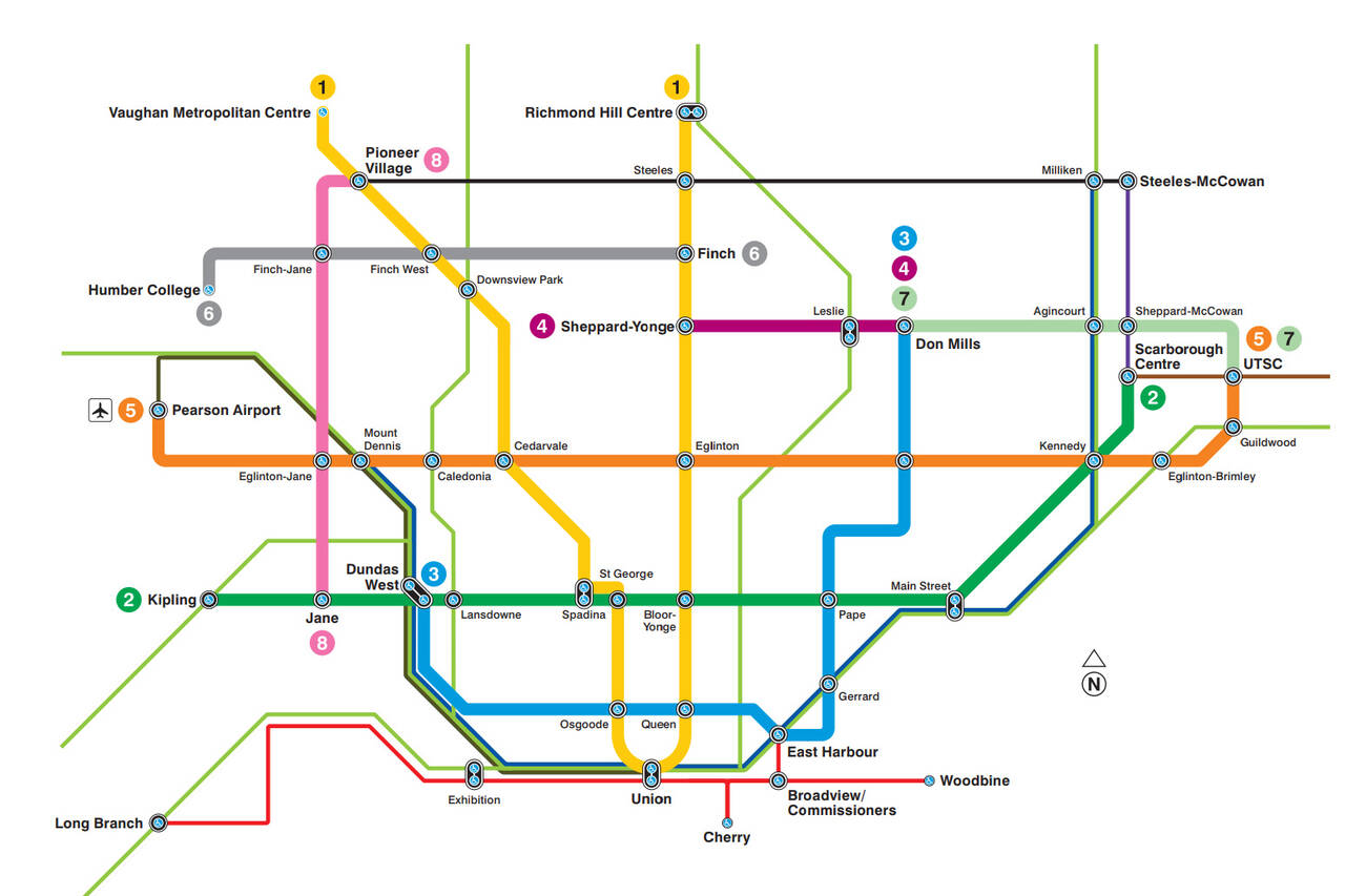 Fantasy Toronto Subway Map.Events In Toronto This Is What The Ttc S Future Transit Map Looks Like