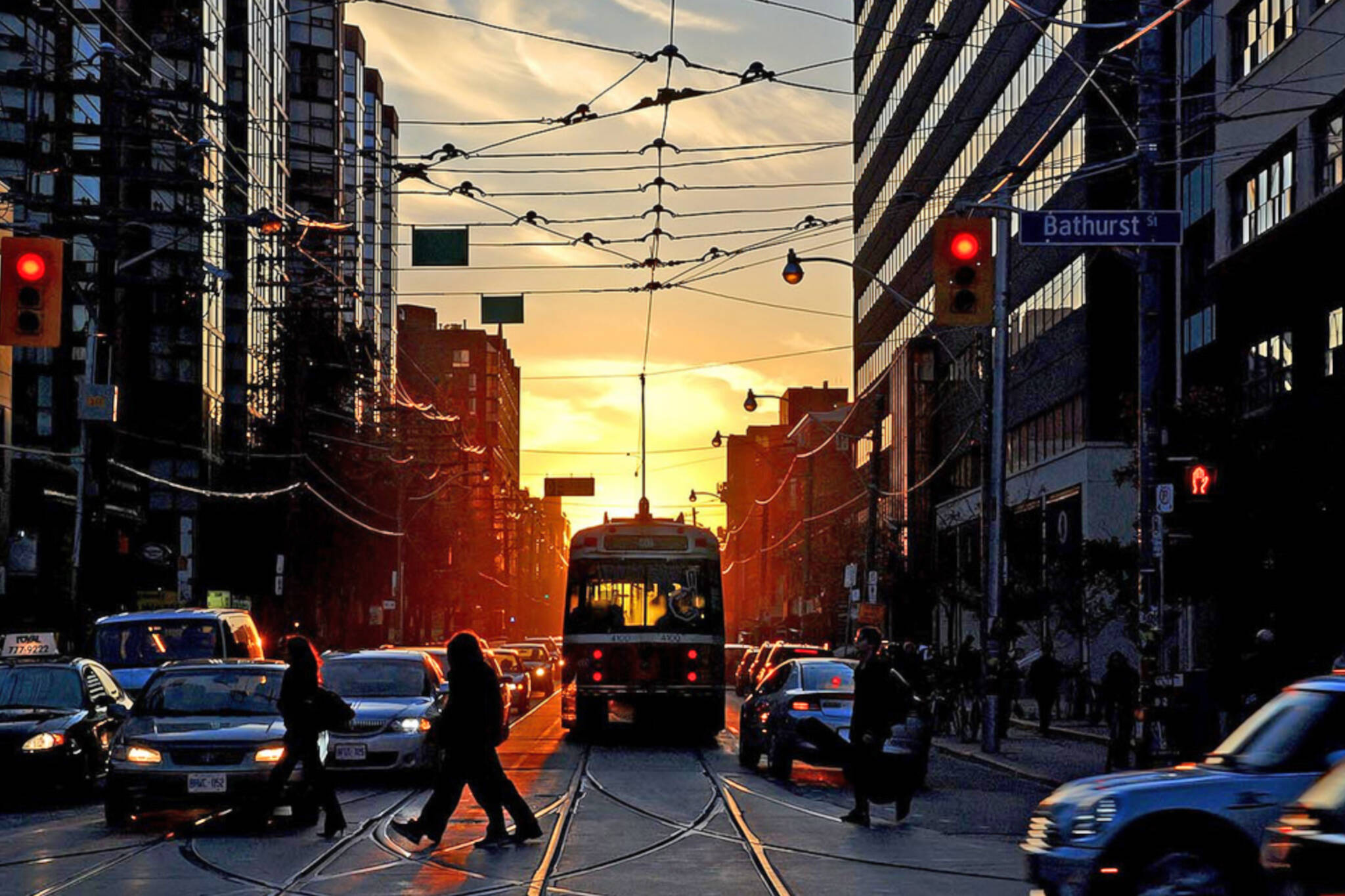 Torontohenge sunset toronto