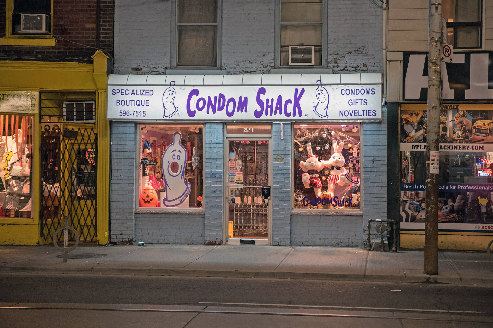 condom shack closed