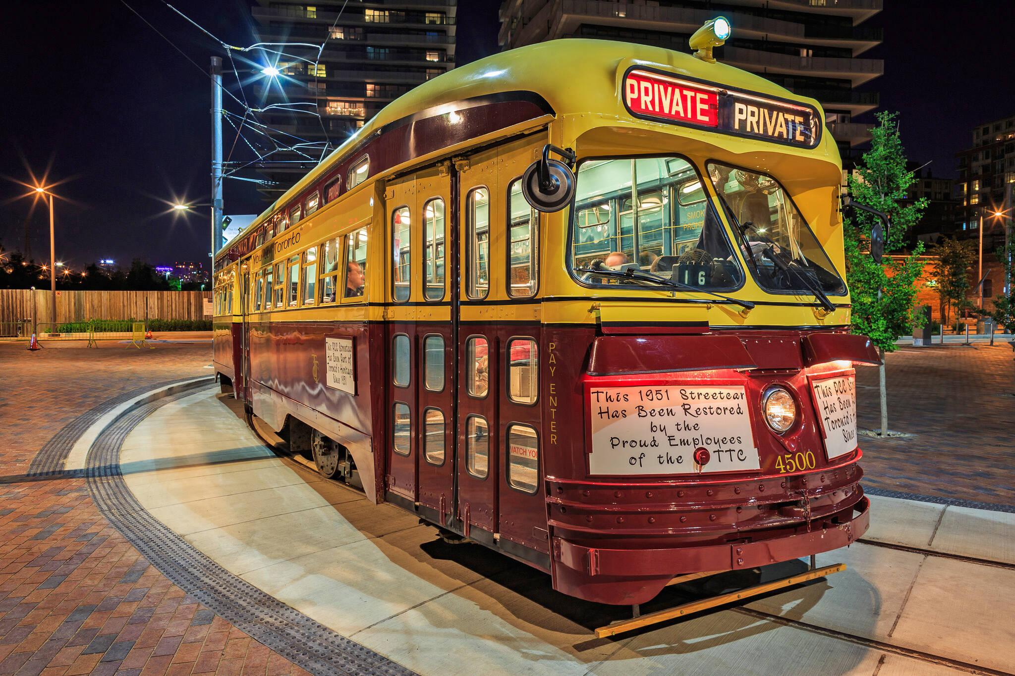 ttc streetcar rent