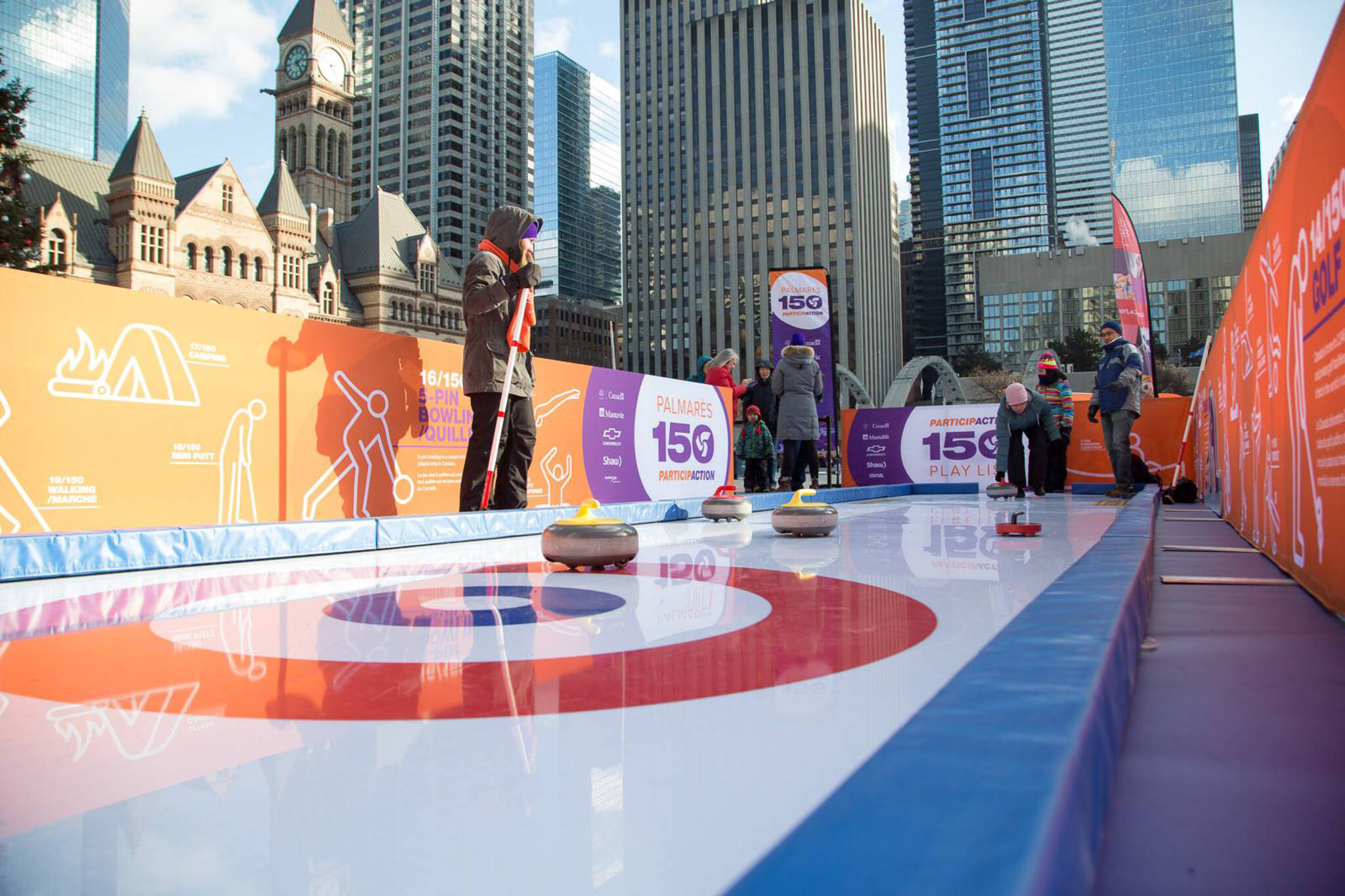 curling at Nathan Phillips Square