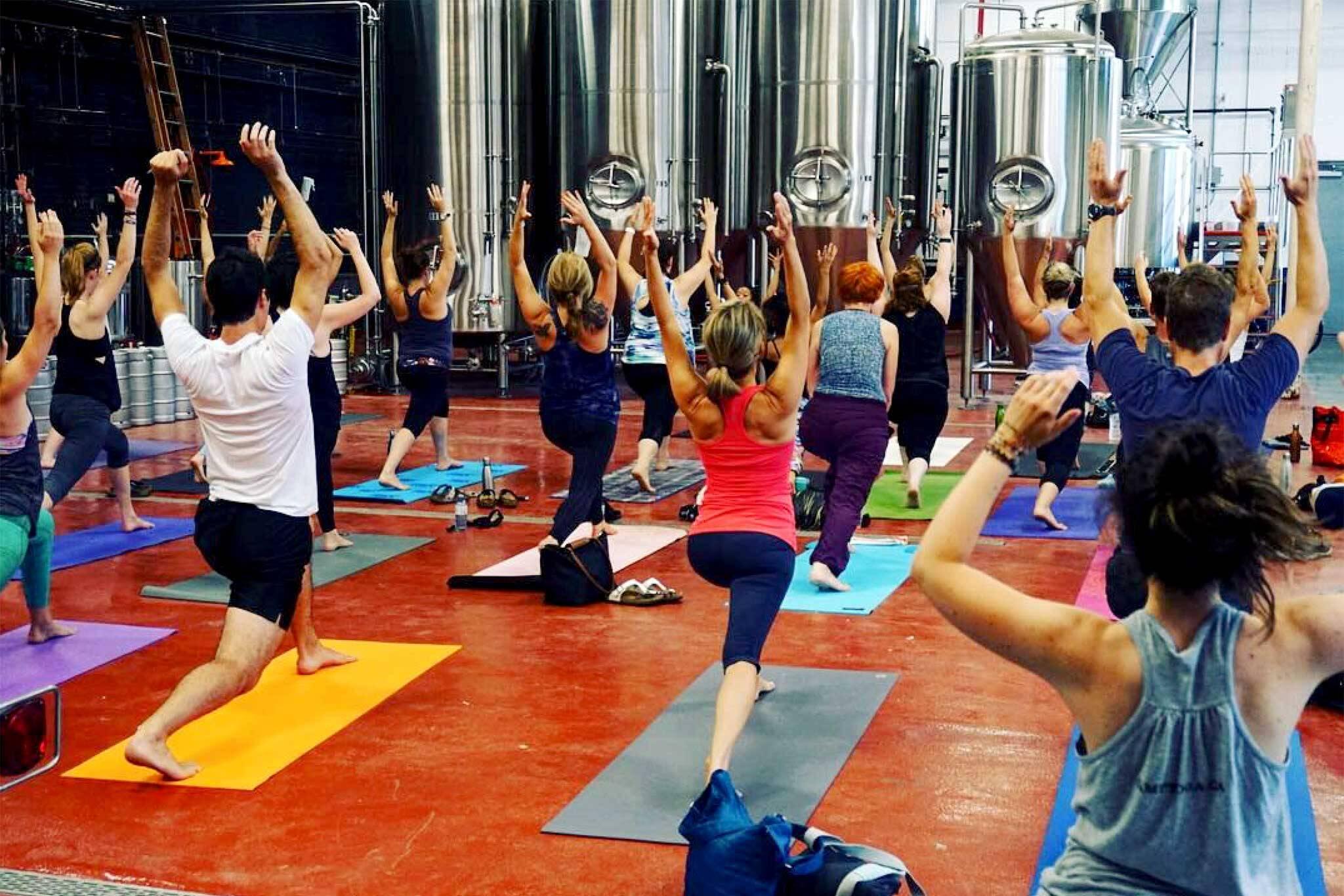 beer yoga toronto