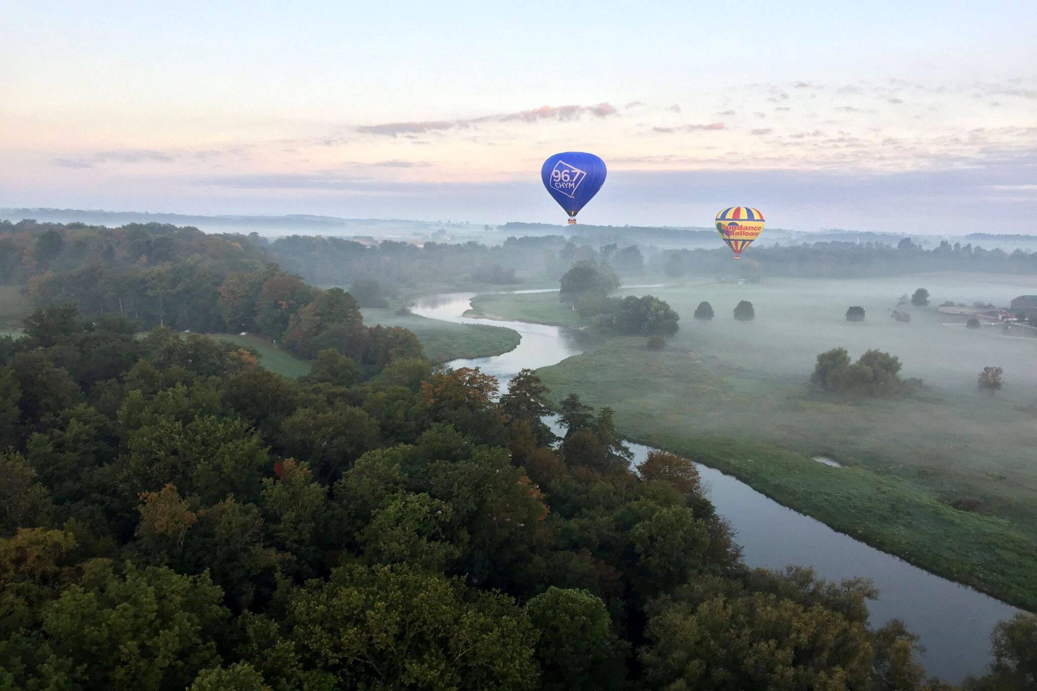 hot air balloon ride ontario