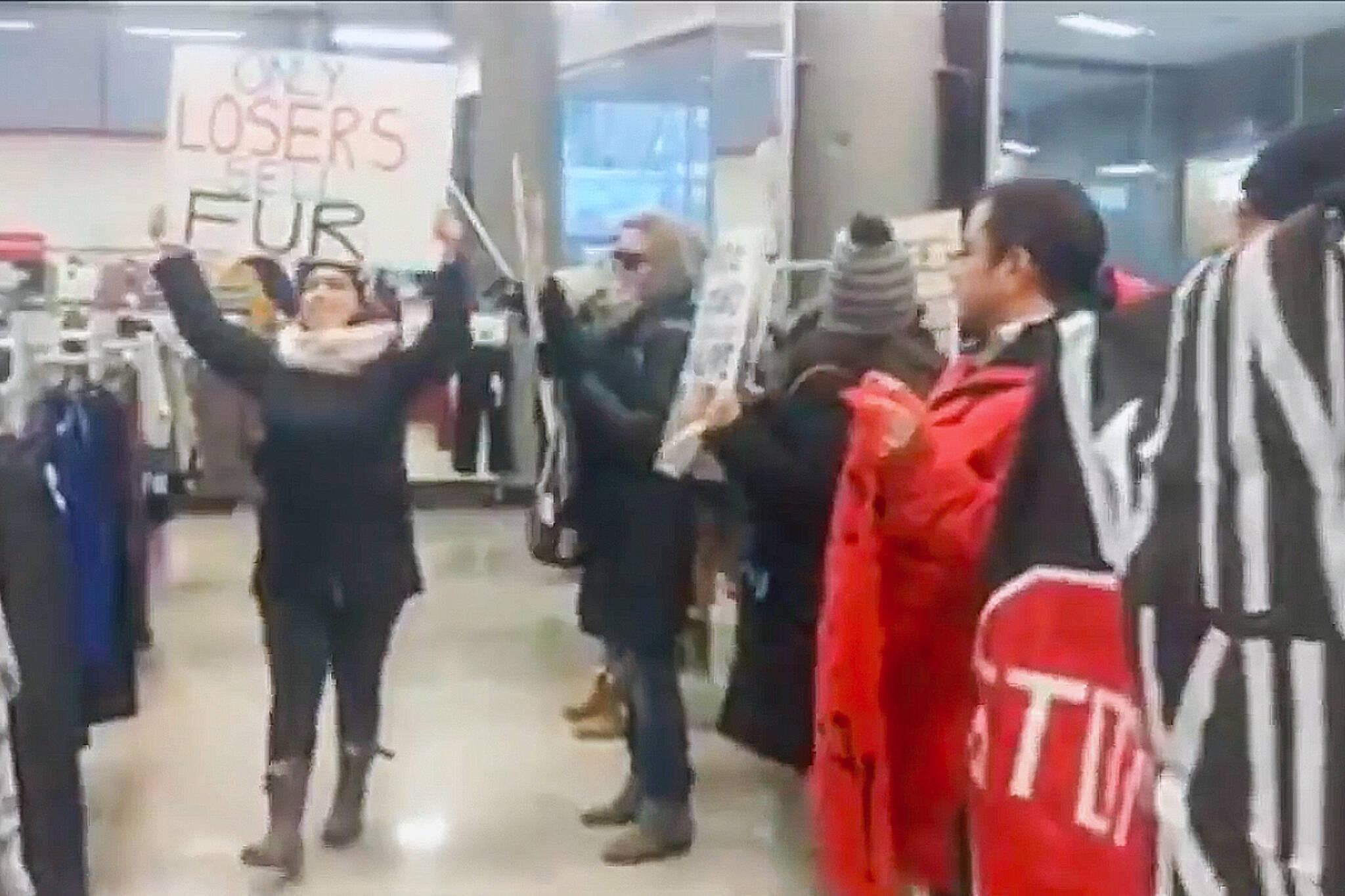 winners fur protest