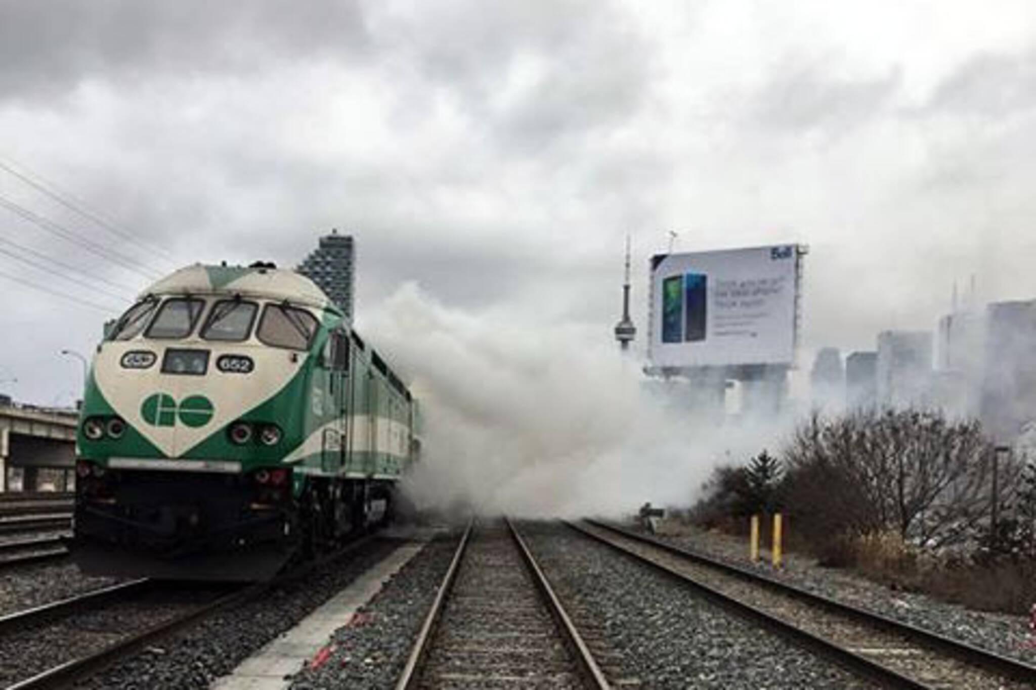 Go train fire