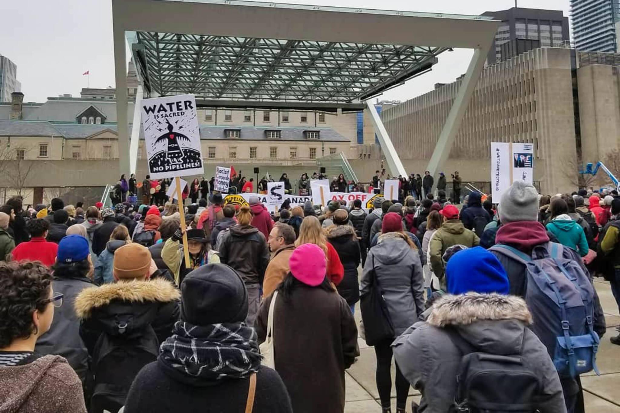 Wetsuweten pipeline protest