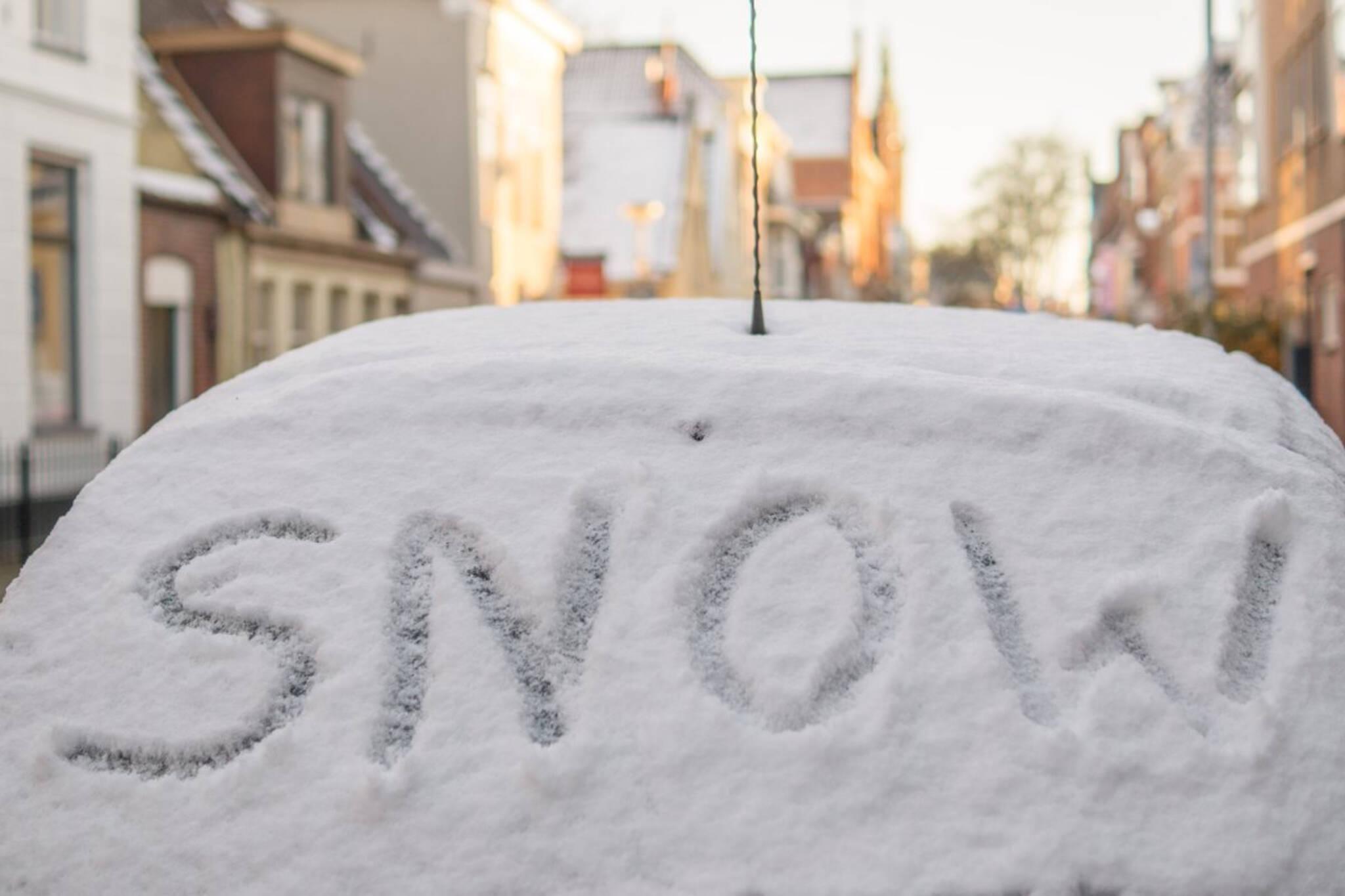 snow toronto highway
