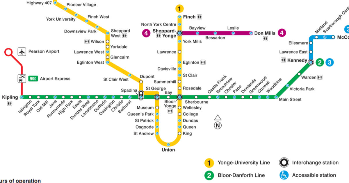 Toronto Subway Map.Events In Toronto The Evolution Of The Ttc Subway Map