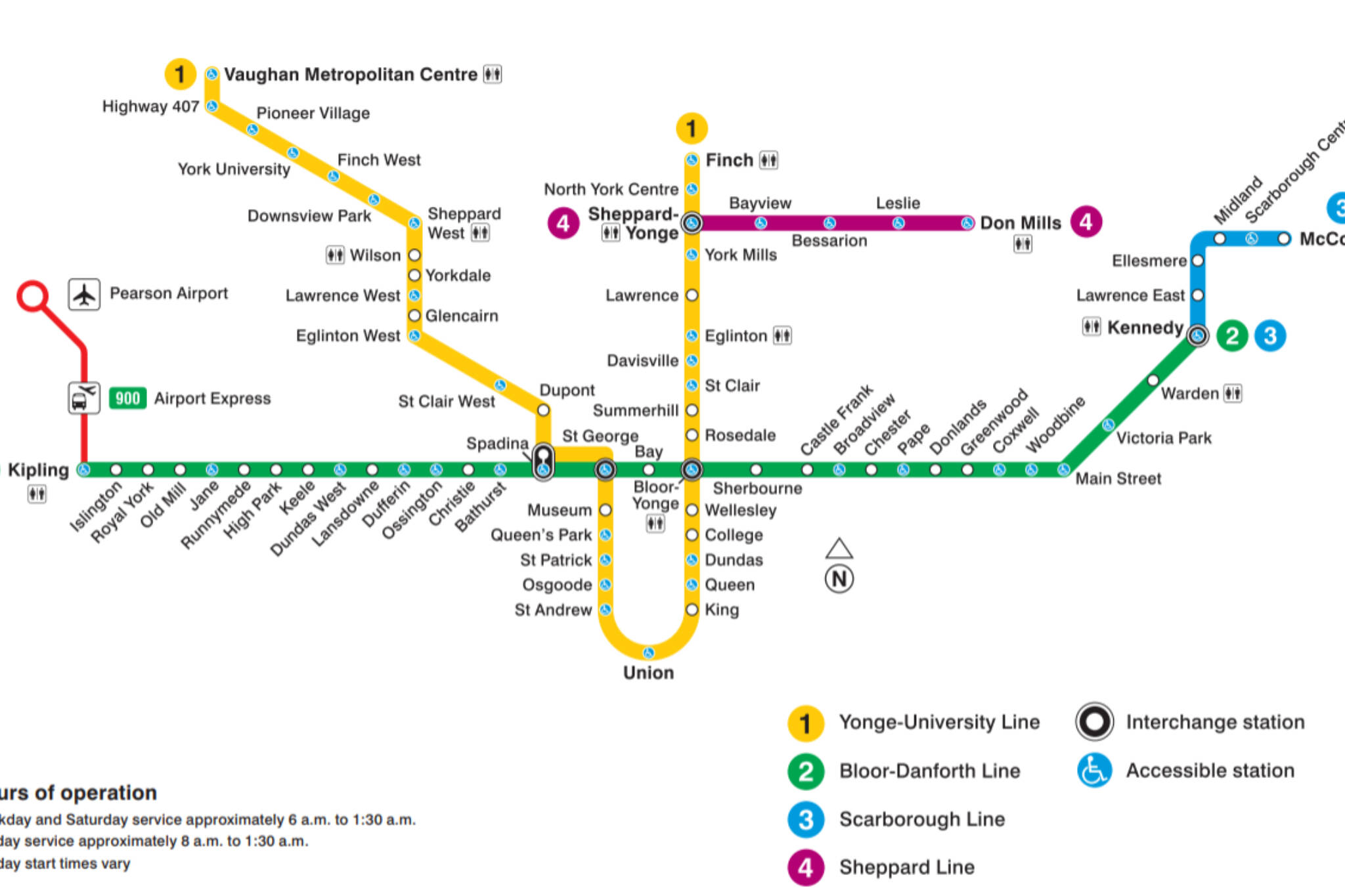 Toronto Subway Stations Map.The Evolution Of The Ttc Subway Map